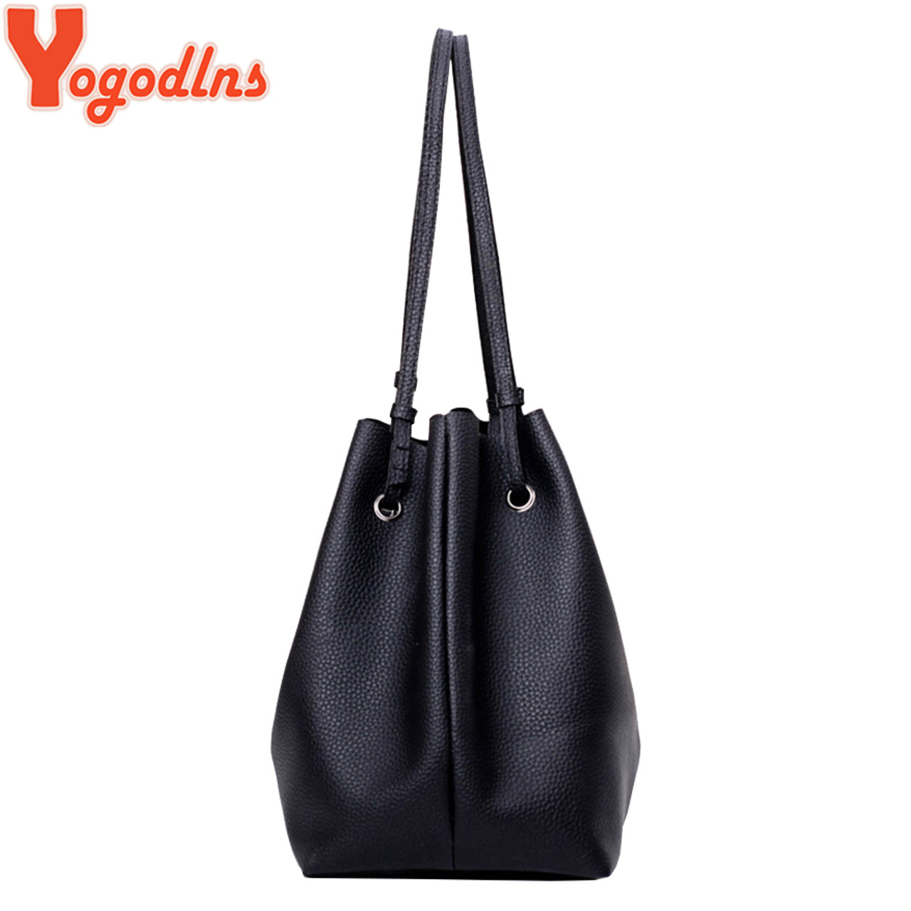 dd91c5748d ... Yogodlns Tassel Bag Set for Women 4 PCS Composite Bag PU Leather  Shoulder Handbag Female Casual ...