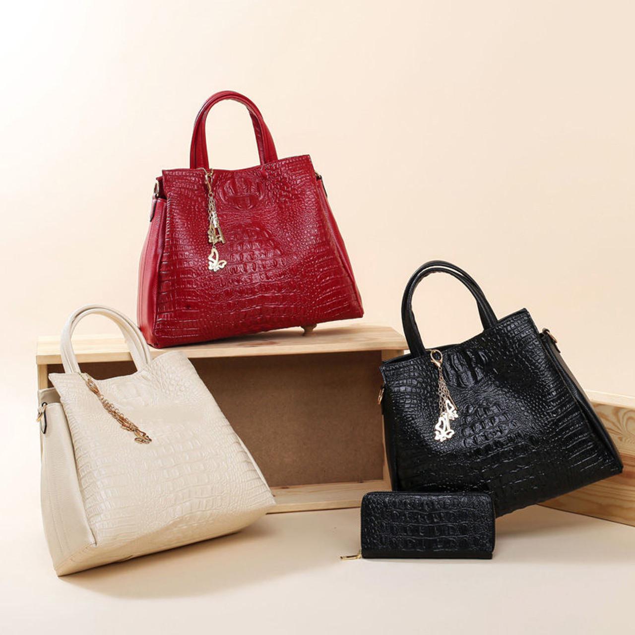 info pour 58ede 1039e Aligator Handbags Women Bags Designer Shoulder Bags Ladies High Quality PU  Women Leather Handbags 2018 Composite Bag Sac Femme