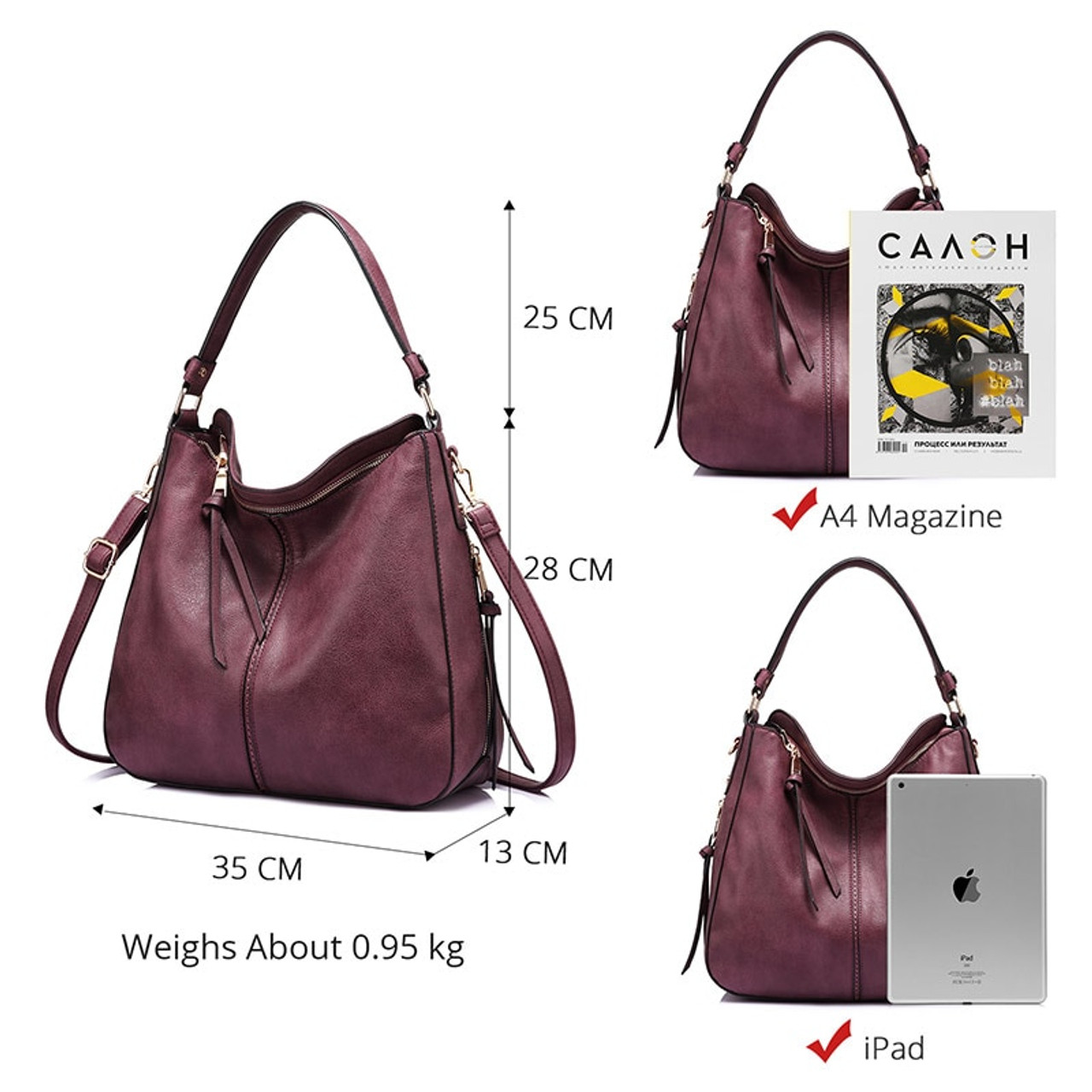 7972aa9261 ... REALER shoulder bag women designer handbag high quality female Hobo bag  tote soft artificial leather Large ...