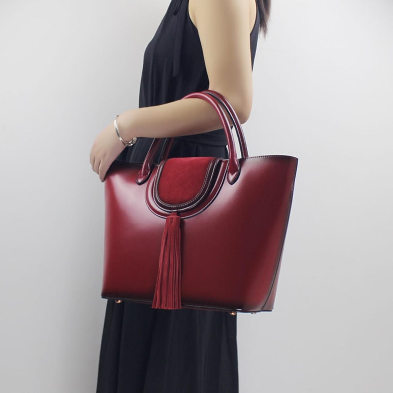 60903c74af3f Women Big Handbag Genuine Leather 2018 Leather Simple Female Large Capacity  Tote Elegant Shoulder bag Top ...