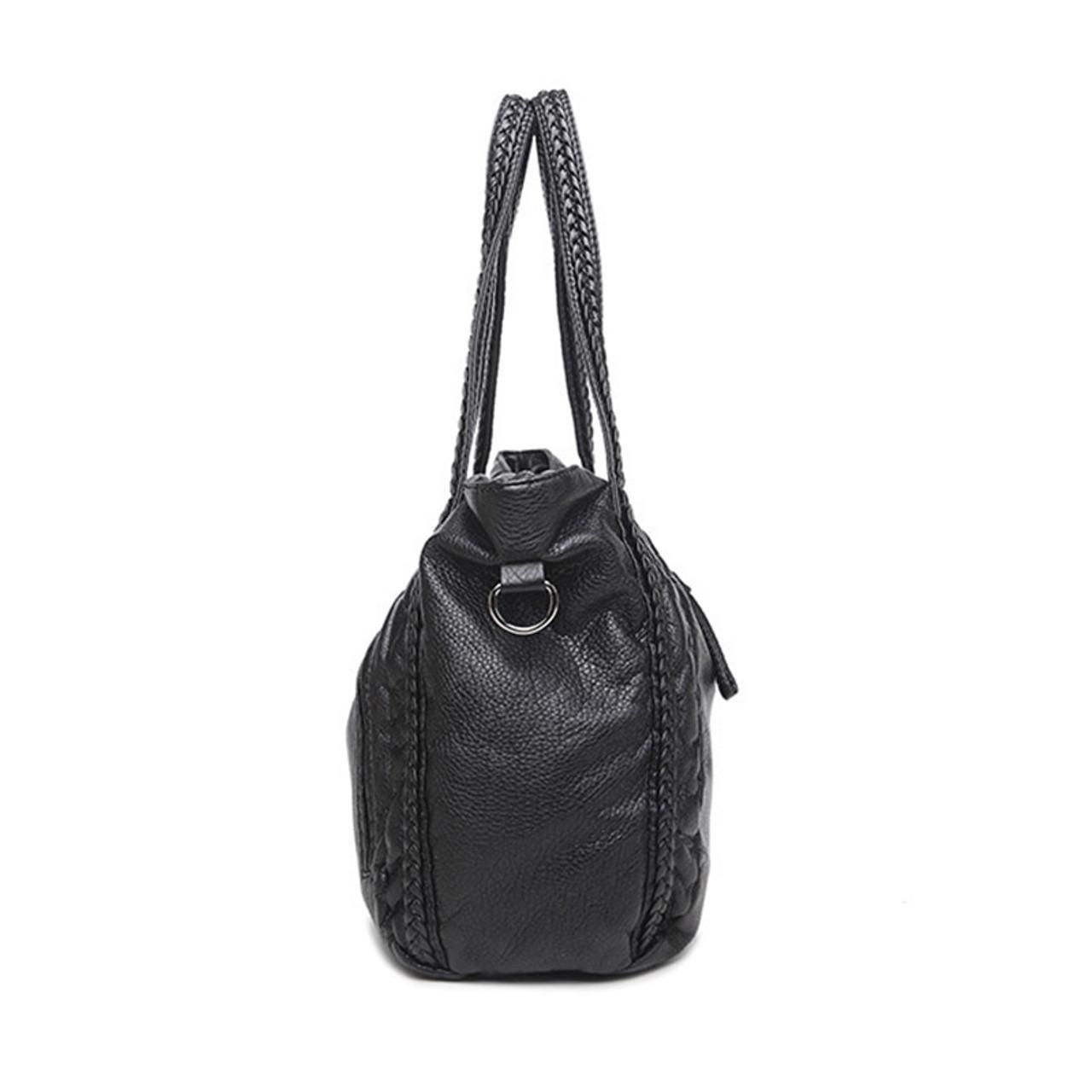bbbb0b2c80c4 Large Soft Leather Bag for Women Handbags Ladies Crossbody Bags Hobos  Shoulder Bags Female Big Tote Sac A Main