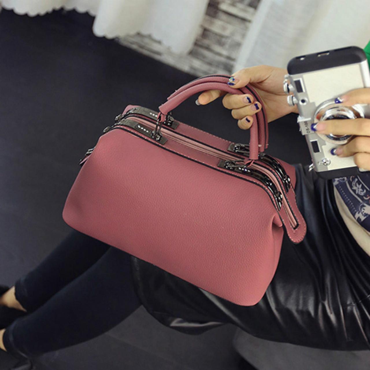 2abcf4571 DAUNAVIA 2018 Brand Fashion Boston handbags for women famous designer  leather messenger bags ladies party shoulder ...