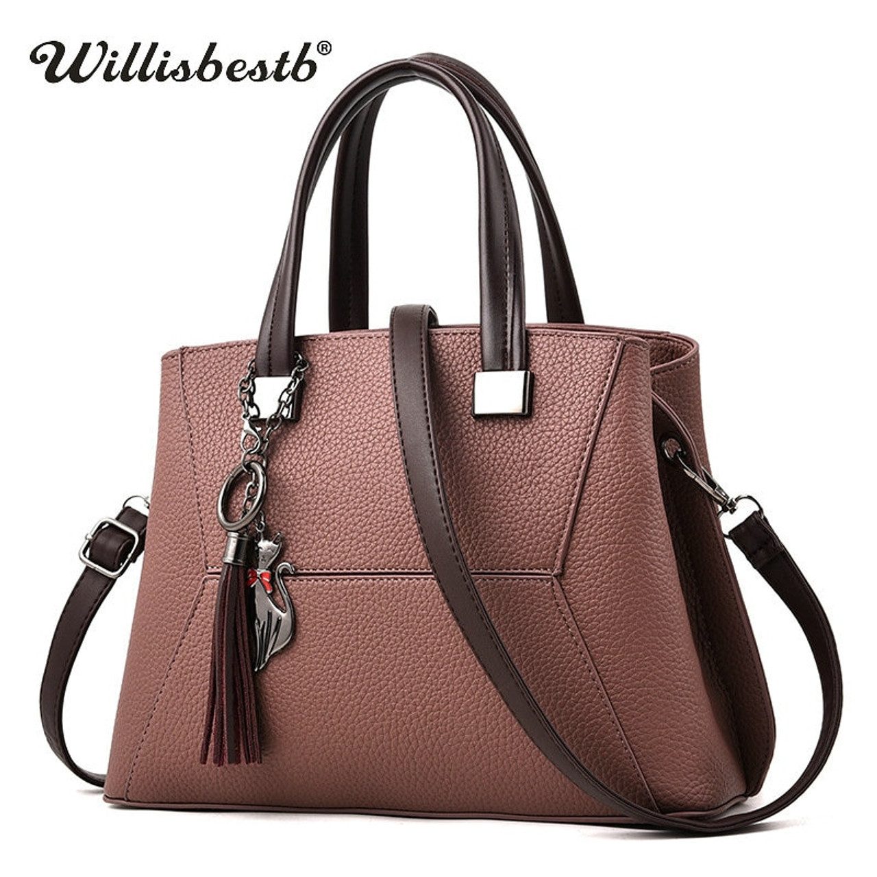 Fashion Tassel 2018 Women Handbag Luxury Brand Clutch Female Crossbody Bags  Soft Leather Designer Large Lady ... 07e4cfec0d3e9