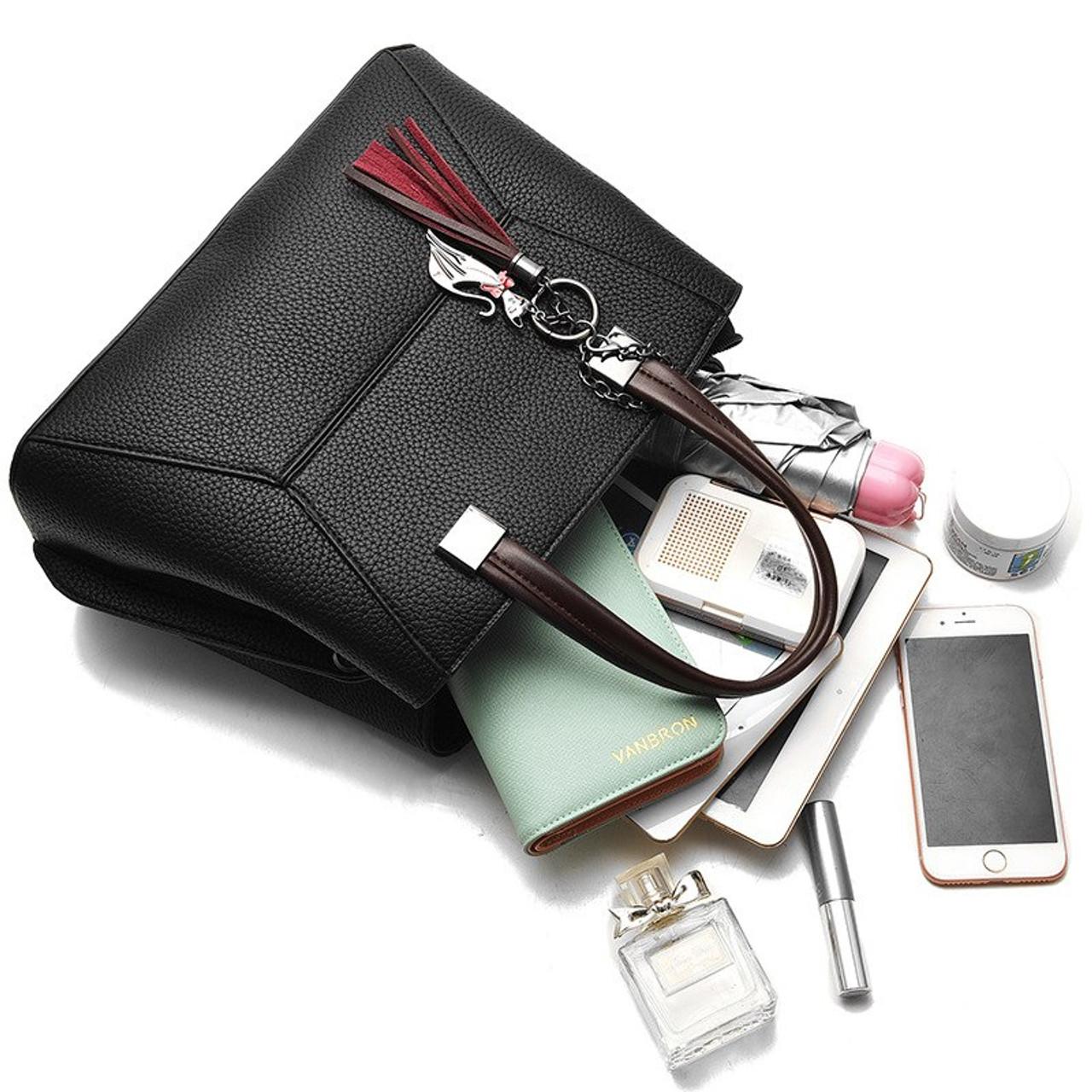 ... Fashion Tassel 2018 Women Handbag Luxury Brand Clutch Female Crossbody  Bags Soft Leather Designer Large Lady ... fc31cbed736bb