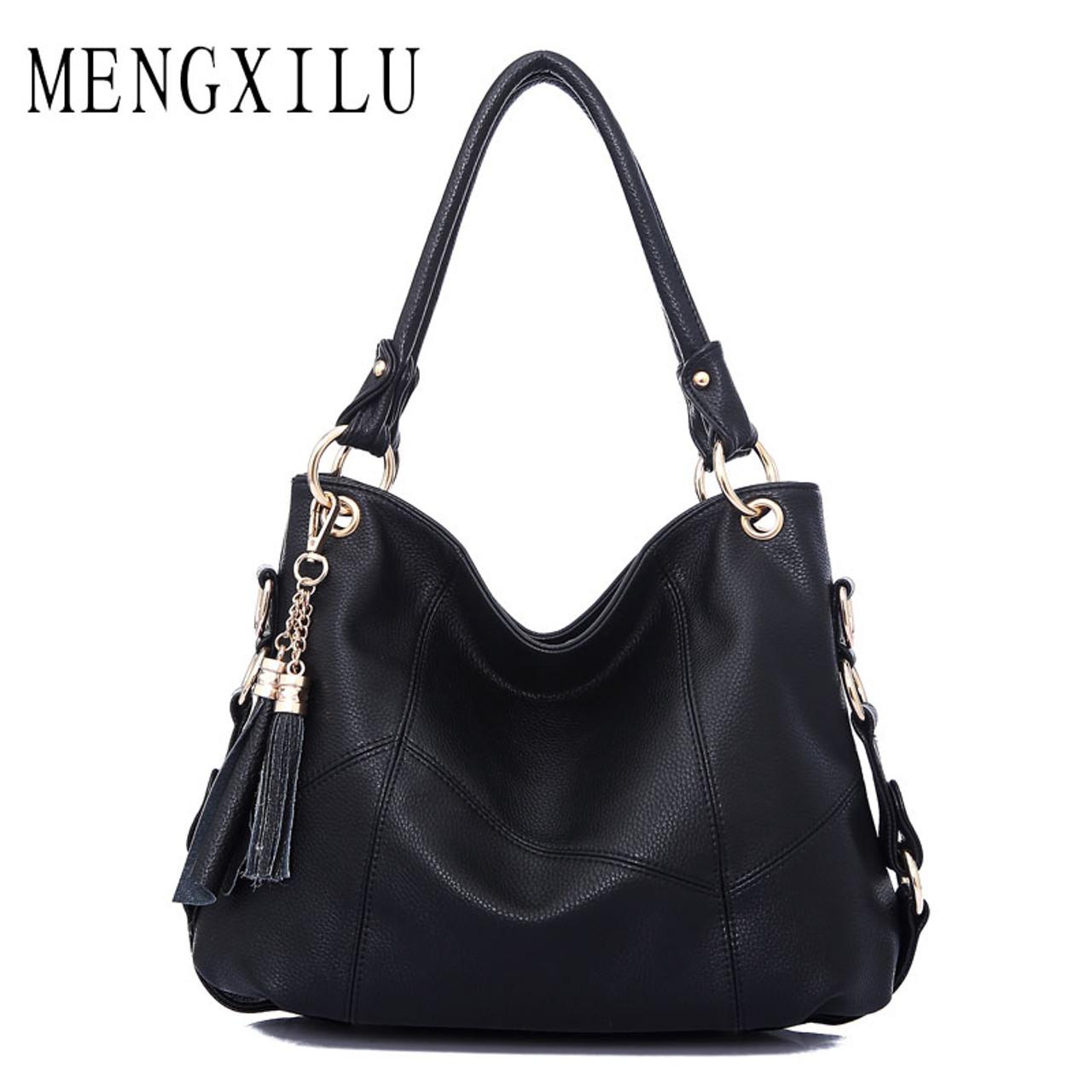 cdeb60a4689b Large Leather Tote Bag Women Shoulder Bags Women Handbags 2017 Tassel Hobo  Luxury Handbags Women Bags Designer High Quality Sac - OnshopDeals.Com