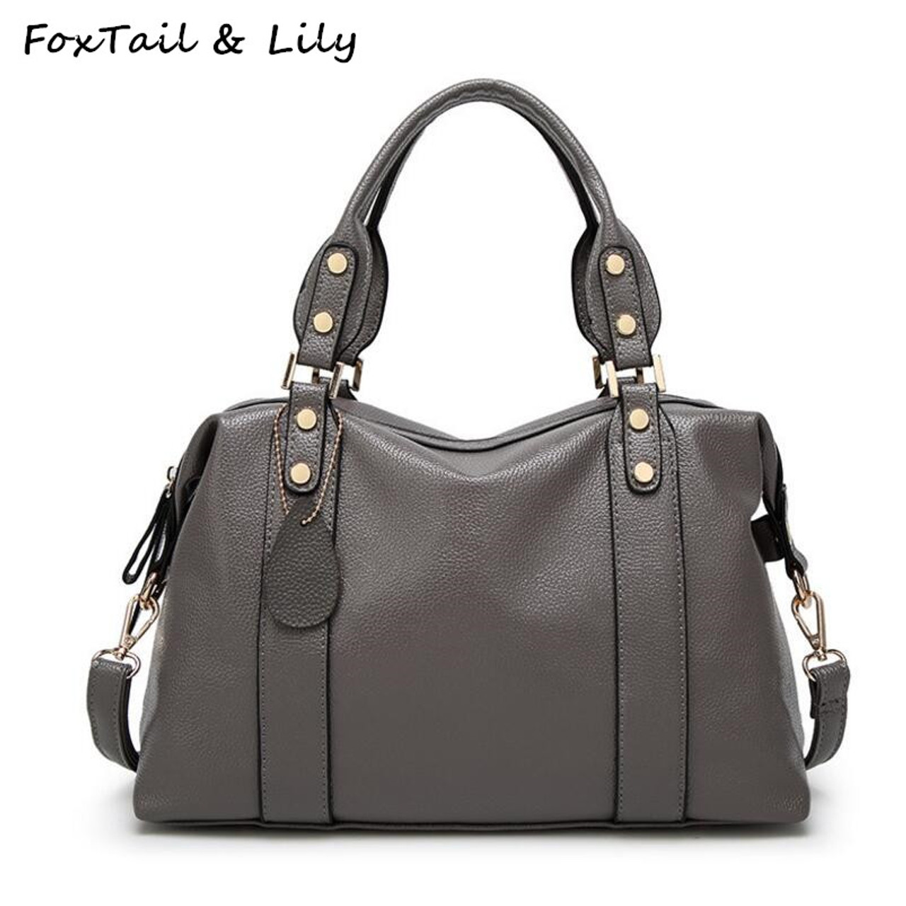 a4f2ec933fd8 FoxTail  amp  Lily Woman Genuine Leather Bag Fashion Luxury Handbags High  Quality Women Shoulder Messenger ...