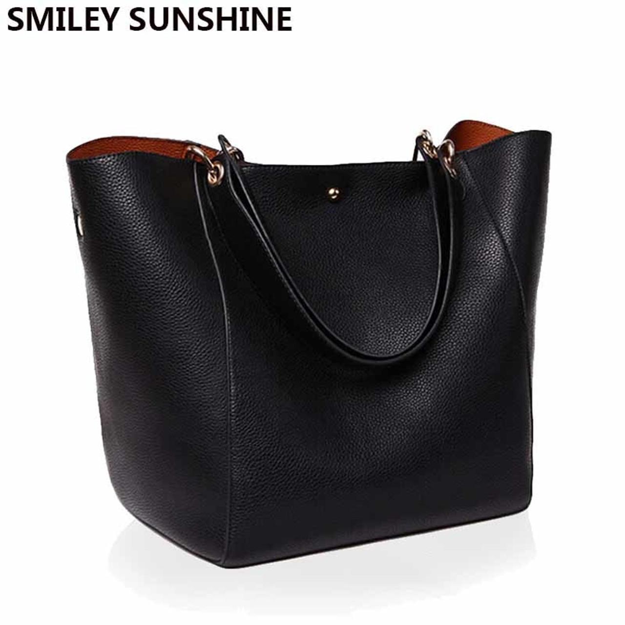 Big Women Shoulder Bag High Quality Designer Leather Handbag Female Famous Tote  Brand Ladies Top-handle Bag bolsas feminina 2017 - OnshopDeals.Com bc165f5692248
