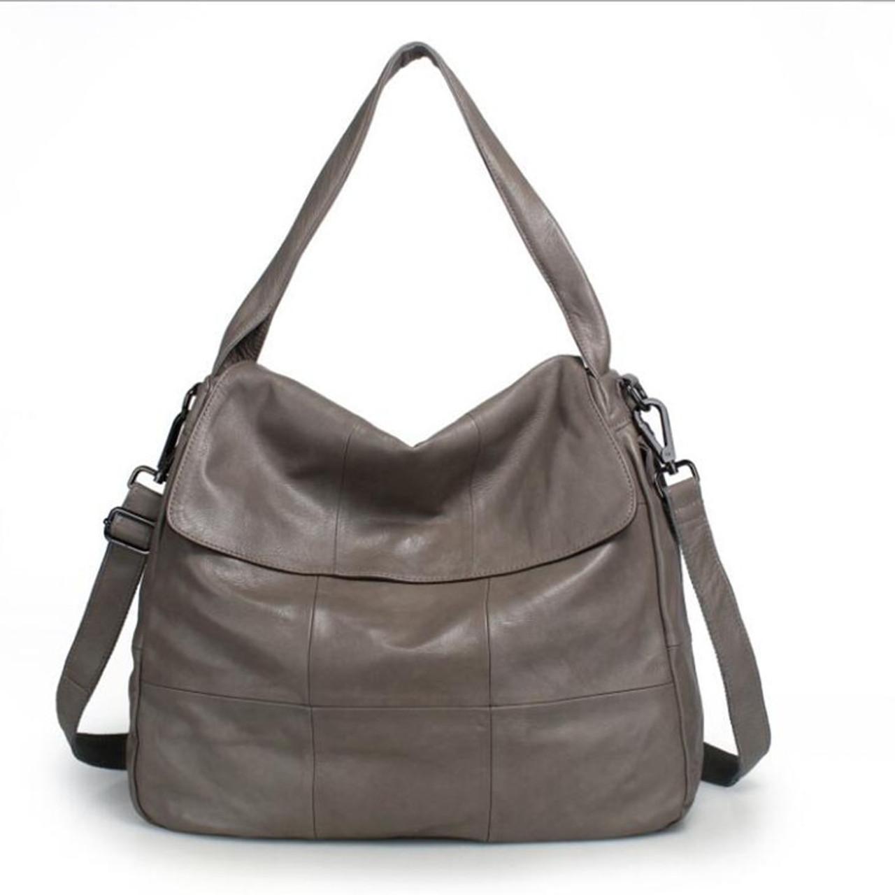 50742adc21e Women Genuine Leather Handbags Women Soft Messenger Bags Designer Crossbody  Bag Women Big Tote Bag Ladies Vintage Shoulder Bag