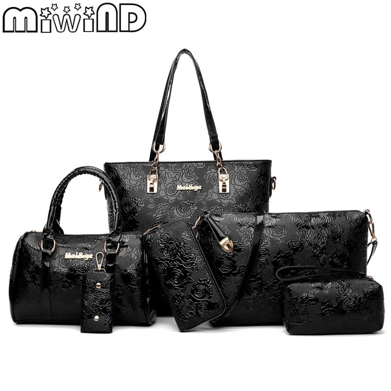 fa6b78369b Women s Handbags Fashion Shoulder Bag Female Messenger Bag High Quality 6-Piece  Set Famous Designer Brand Bolsa Feminina - OnshopDeals.Com
