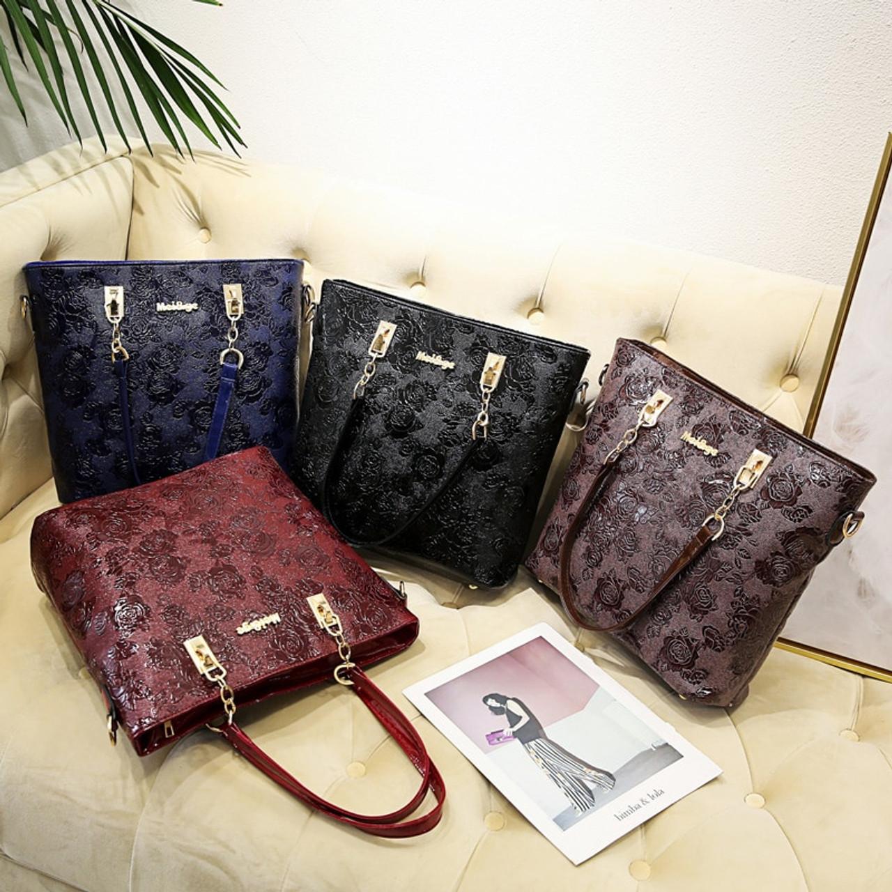 50ae3a26b924 ... Women s Handbags Fashion Shoulder Bag Female Messenger Bag High Quality 6-Piece  Set Famous Designer ...