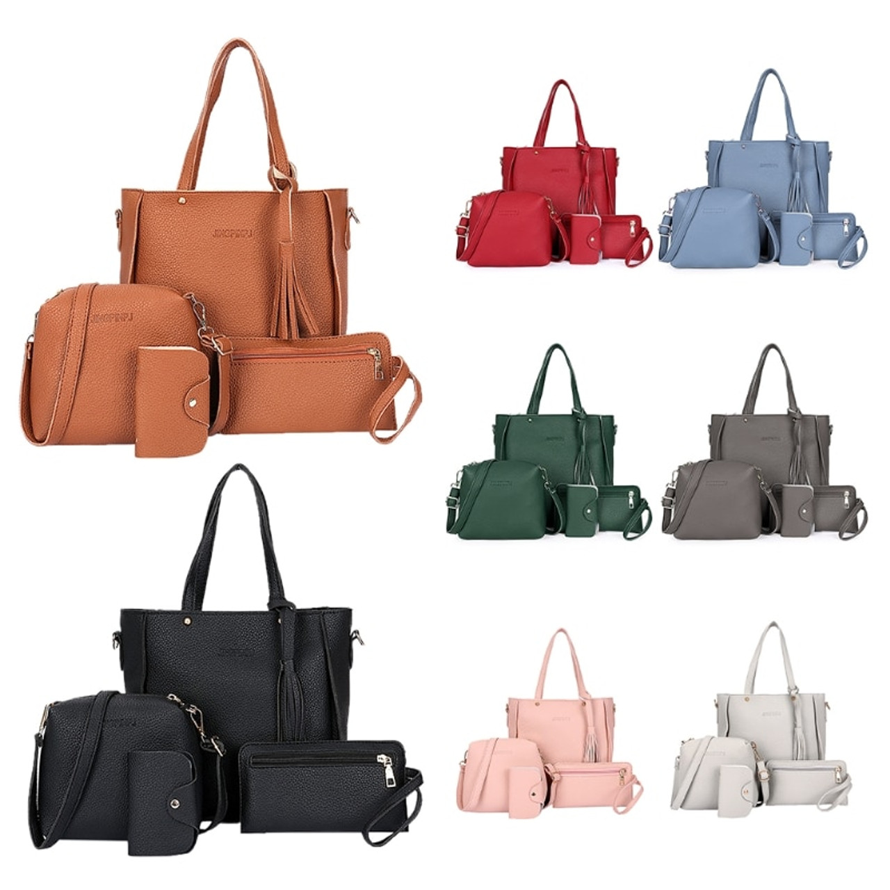 d9a531c0befa 4pcs Women Lady Fashion Handbag Shoulder Bags Tote Purse Messenger Satchel  Set - OnshopDeals.Com