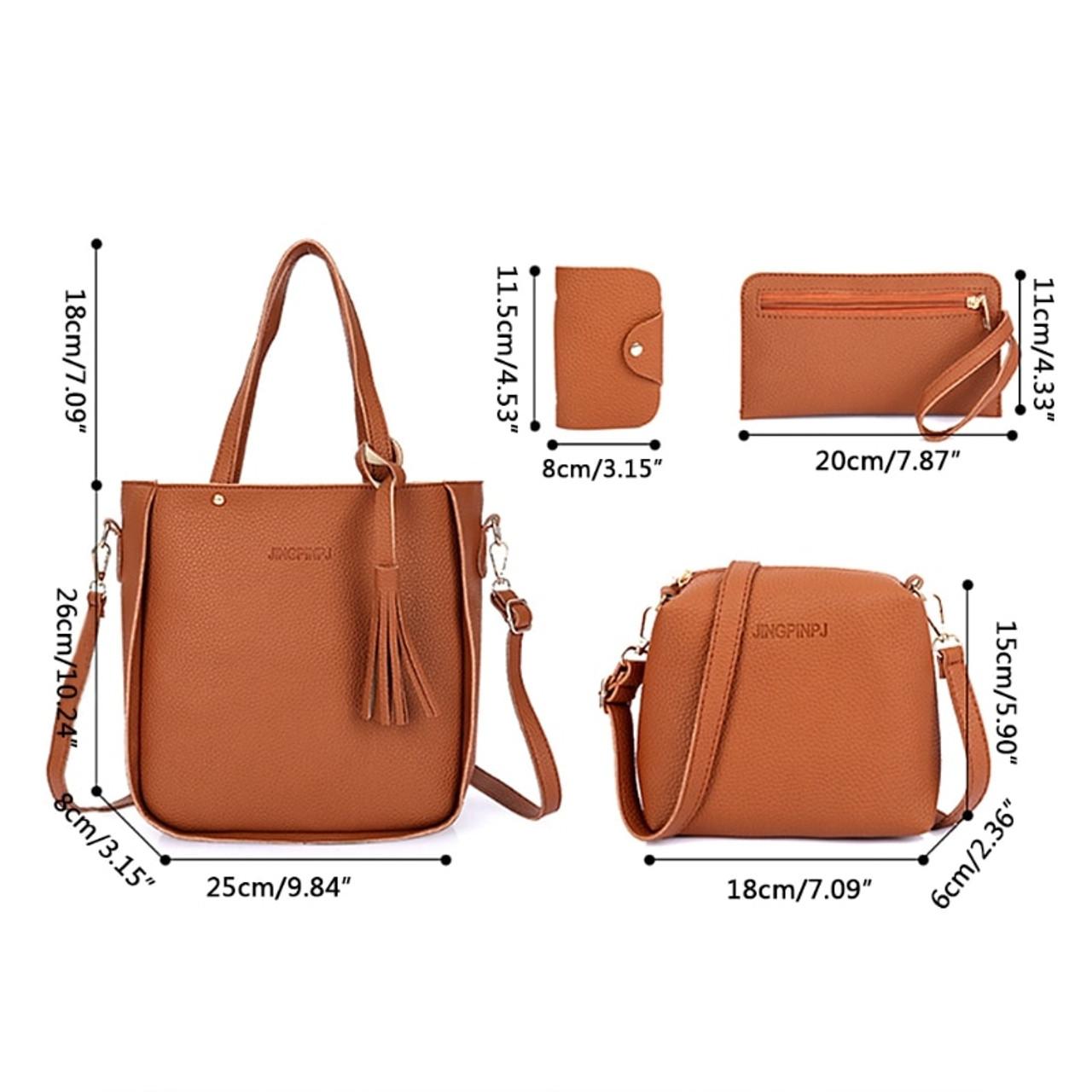 4pcs Fashion Women Lady Handbag Shoulder Bags Tote Purse Messenger Satchel Set