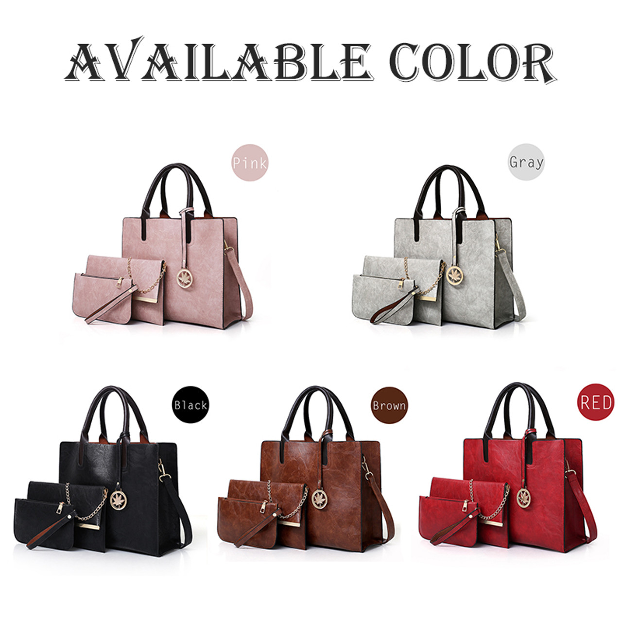 3Pcs Bag Sets Luxury Handbags Women Bags Female Shoulder Bags For Women Handbags Fashion Purses And Famous Brands Tote