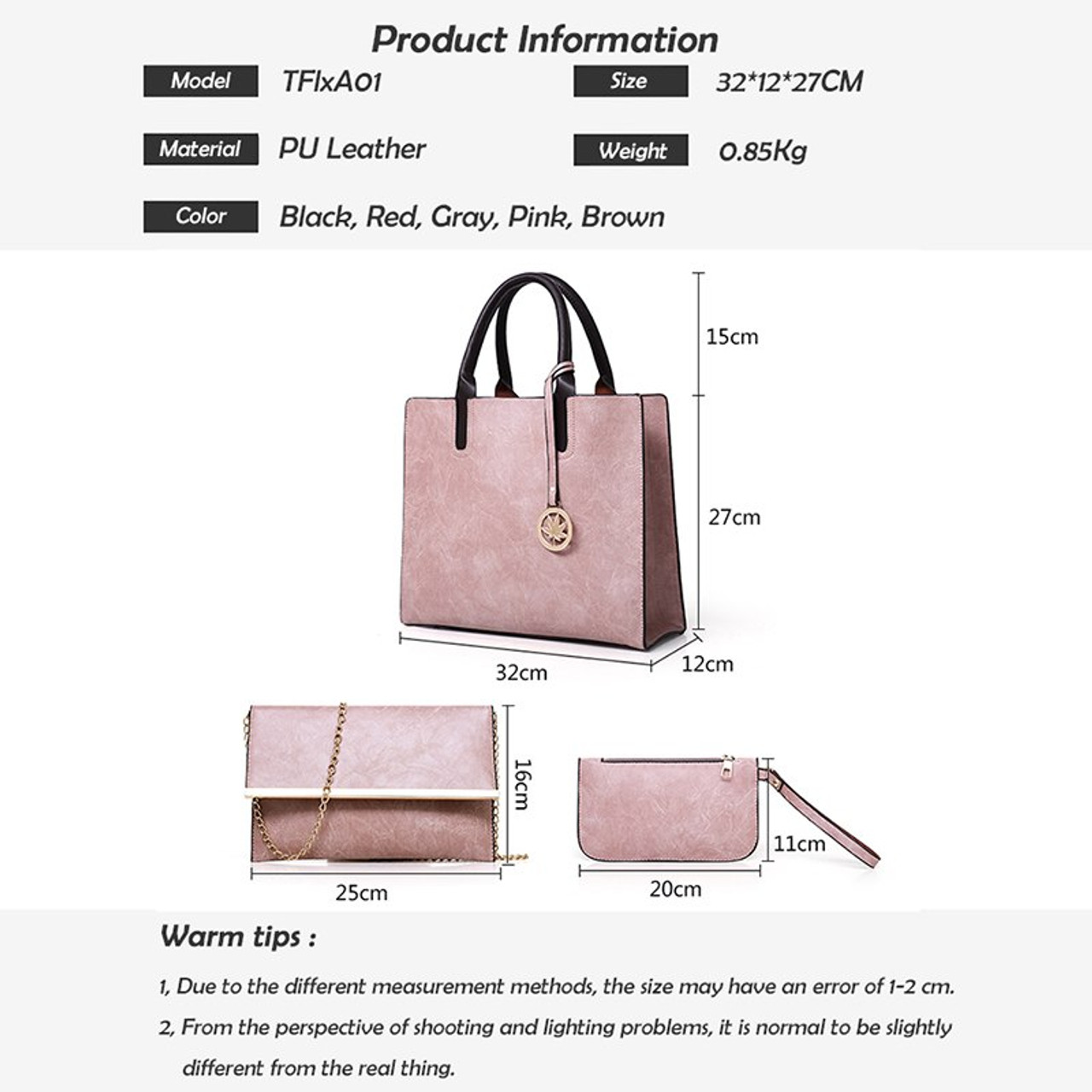 d3eed166976d ... ATAXZOME 3Pcs Set Composite women Tote Shoulder bags Large luxury  handbags designer famous brand PU ...