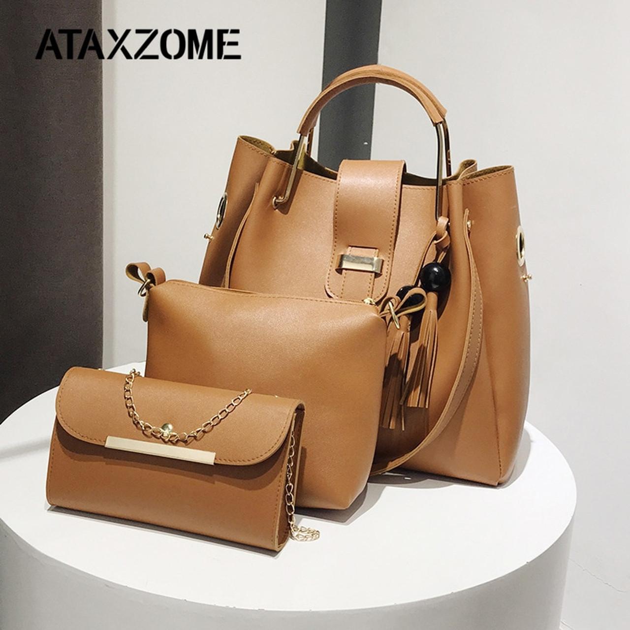 520c4588be0a ATAXZOME 3Pcs Set Crossbody Bags for Women 2018 Female Shoulder Composite  Handbags PU Leather Women ...