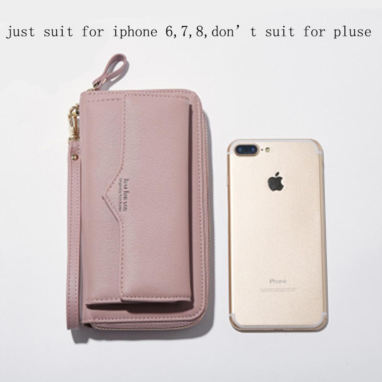 Lady Women/'s Leather Clutch Handbag Wallet Long Card Holder Phone Bag Case Purse