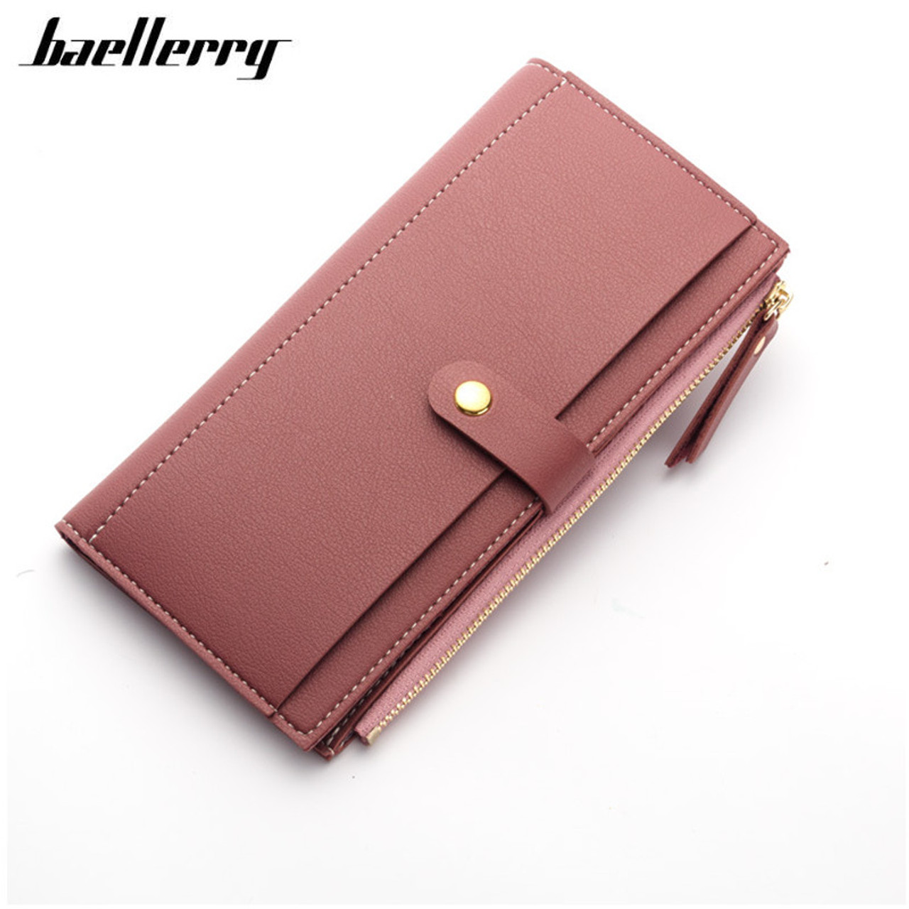 35efadf115df 2018 Luxury Women Wallet PU Leather Long Solid Zipper Wallet Money Bag Coin Purse  Female Credit ...