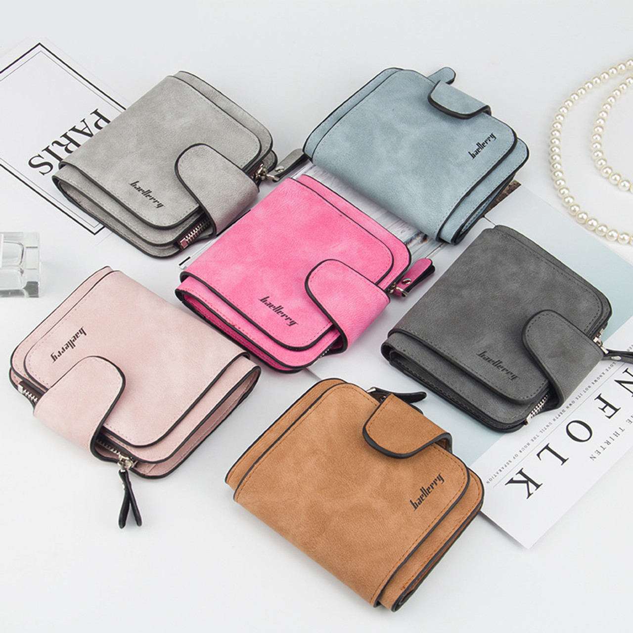 0da3f777e6b5 ... Vintage women wallet leather purse quality guarantee trifold brown  credit card holder famous brand luxury wallets ...