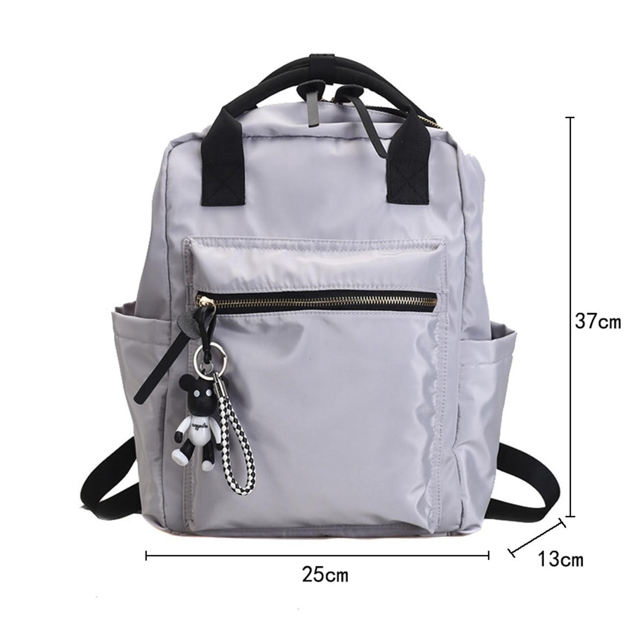 Casual Nylon Backpack Women Large Capacity School Bag Teenager Mochila Bolsa Solid Color Girls Travel Bags Students 2018 Summer