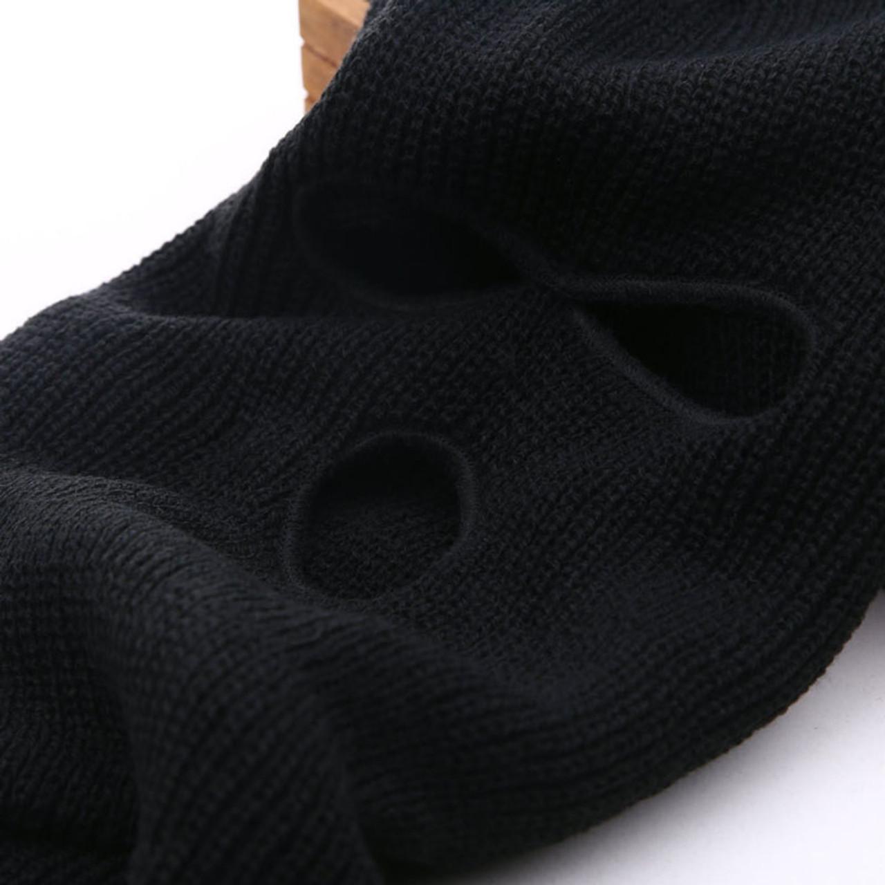 faecd46841c0c ... 3 Hole Ski Mask Balaclava Black Knit Hat Face Shield Beanie Cap Snow  Winter Warm ...