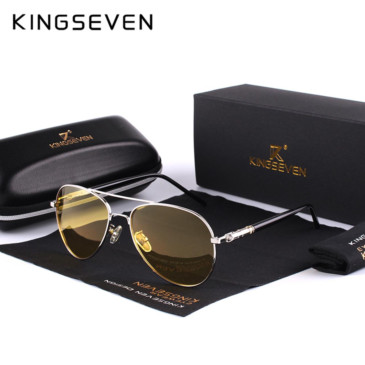0d62fc9ed3 2017 Mens Polarized Night Driving Sunglasses Men Brand Designer Yellow Lens  Night Vision Driving Glasses Goggles Reduce Glare - OnshopDeals.Com