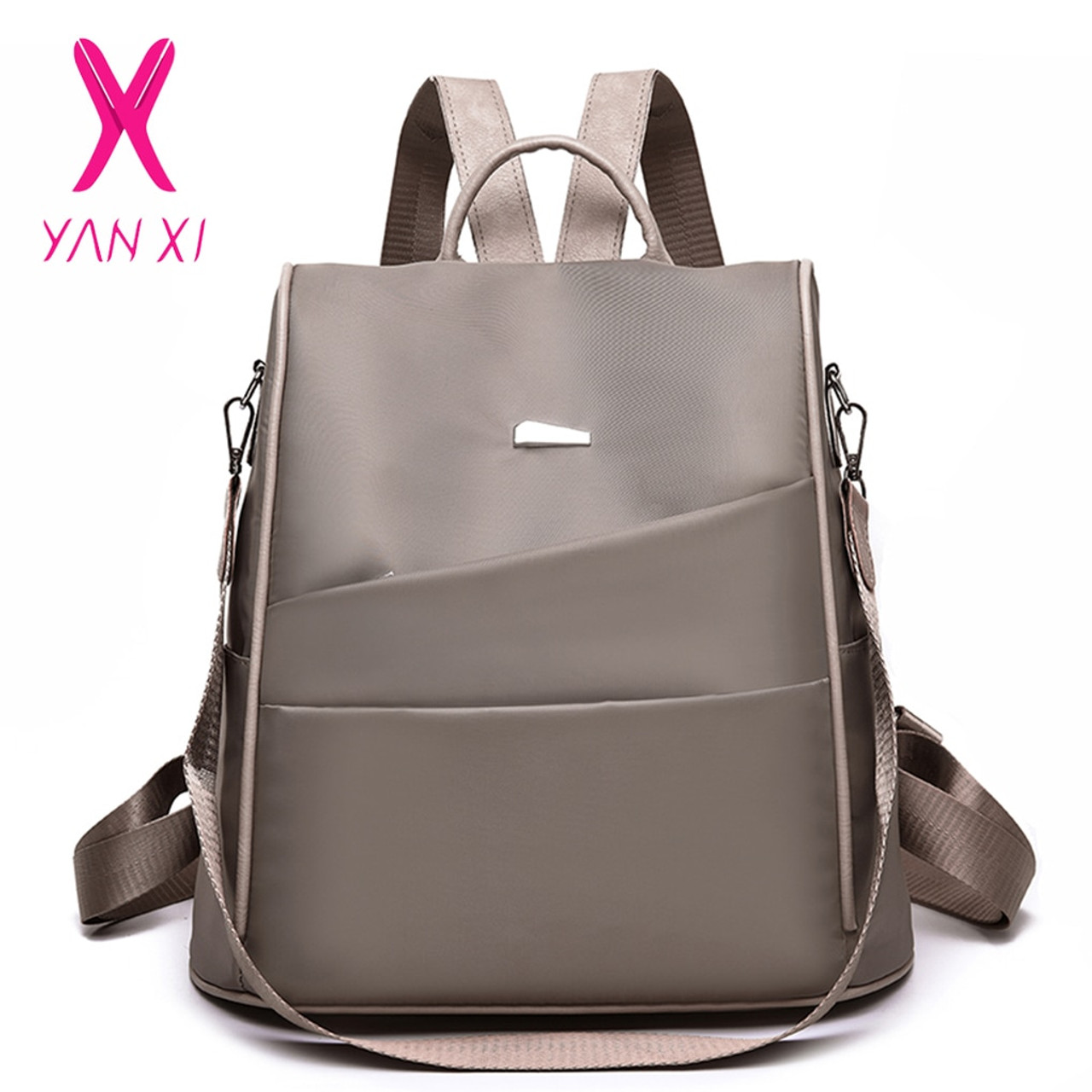 Waterproof Oxford//PU Leather Small Backpack Purse for Women School Bag Girls
