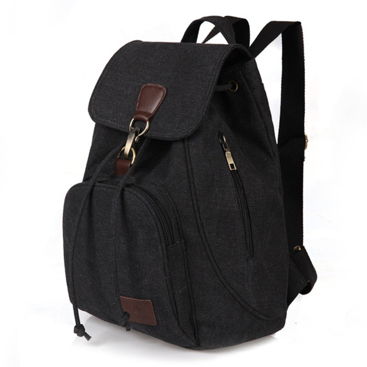 59b504f4777c Woman canvas backpacks female vintage bag fashion backpacks for teenage girls  retro College student school bags ...