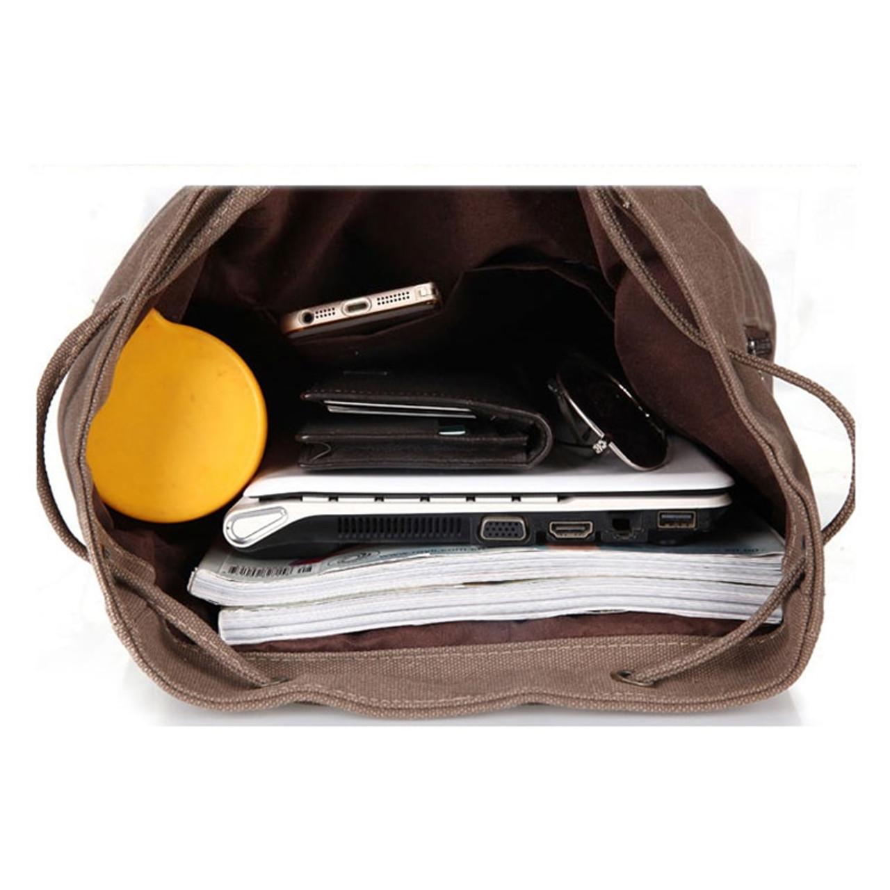 Heenns Retro Womens Fashion Backpacks Vintage Canvas College Ms Handbag Anti-Theft Girl School Bag//Shoulder Bags Color : Brown