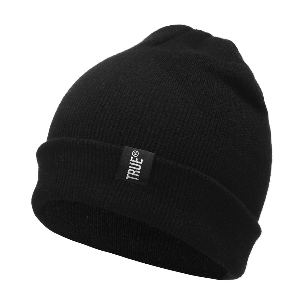 c9af02535e8e5 ... Letter True Casual Beanies for Men Women Fashion Knitted Winter Hat  Solid Color Hip-hop ...