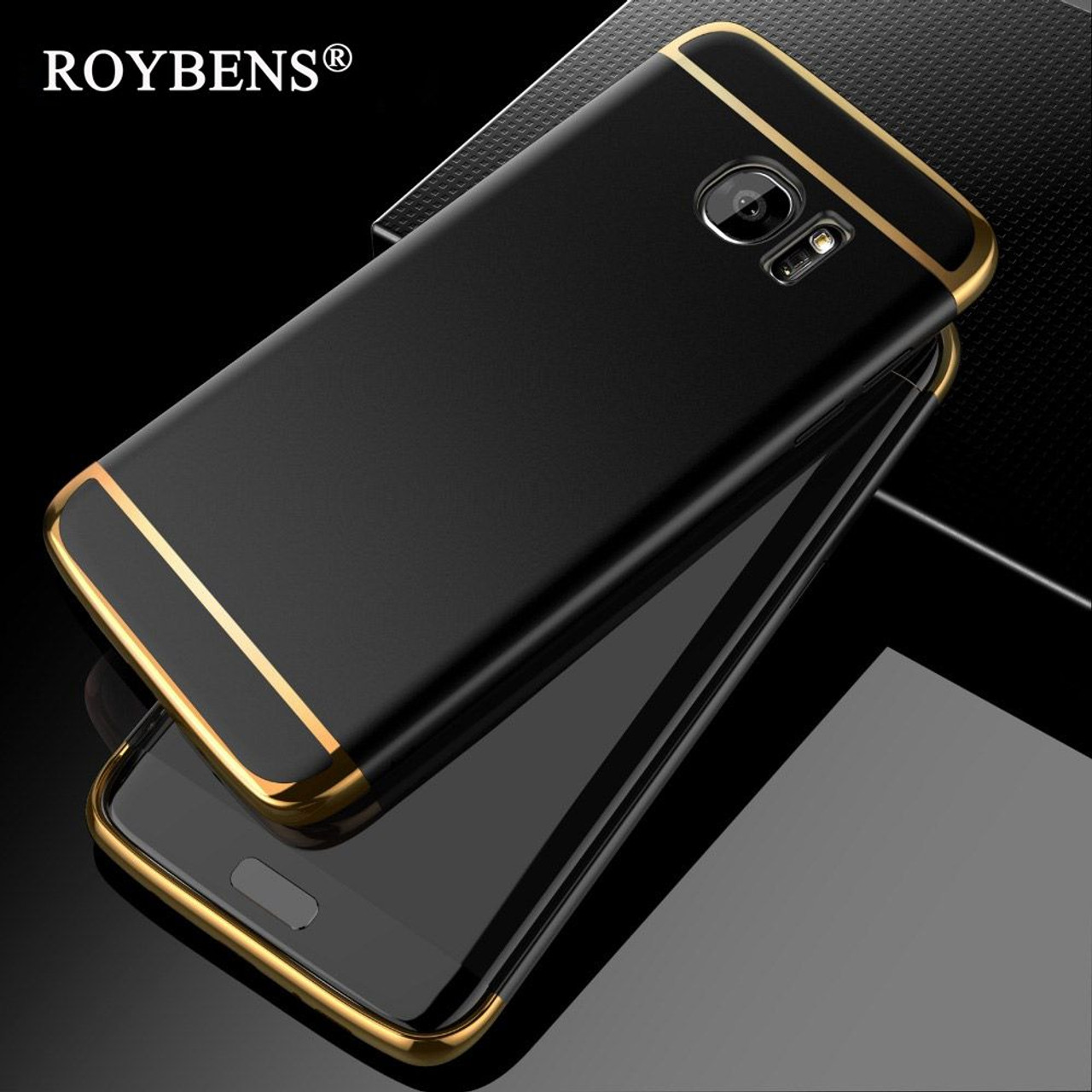 the latest fe803 b28f7 For Samsung Galaxy S7 Edge Case S8 Fashion 3in1 Hard PC Ultra Slim Cover  For Apple iPhone 6 6S 7 Plus 5 5S SE Luxury Phone Cases