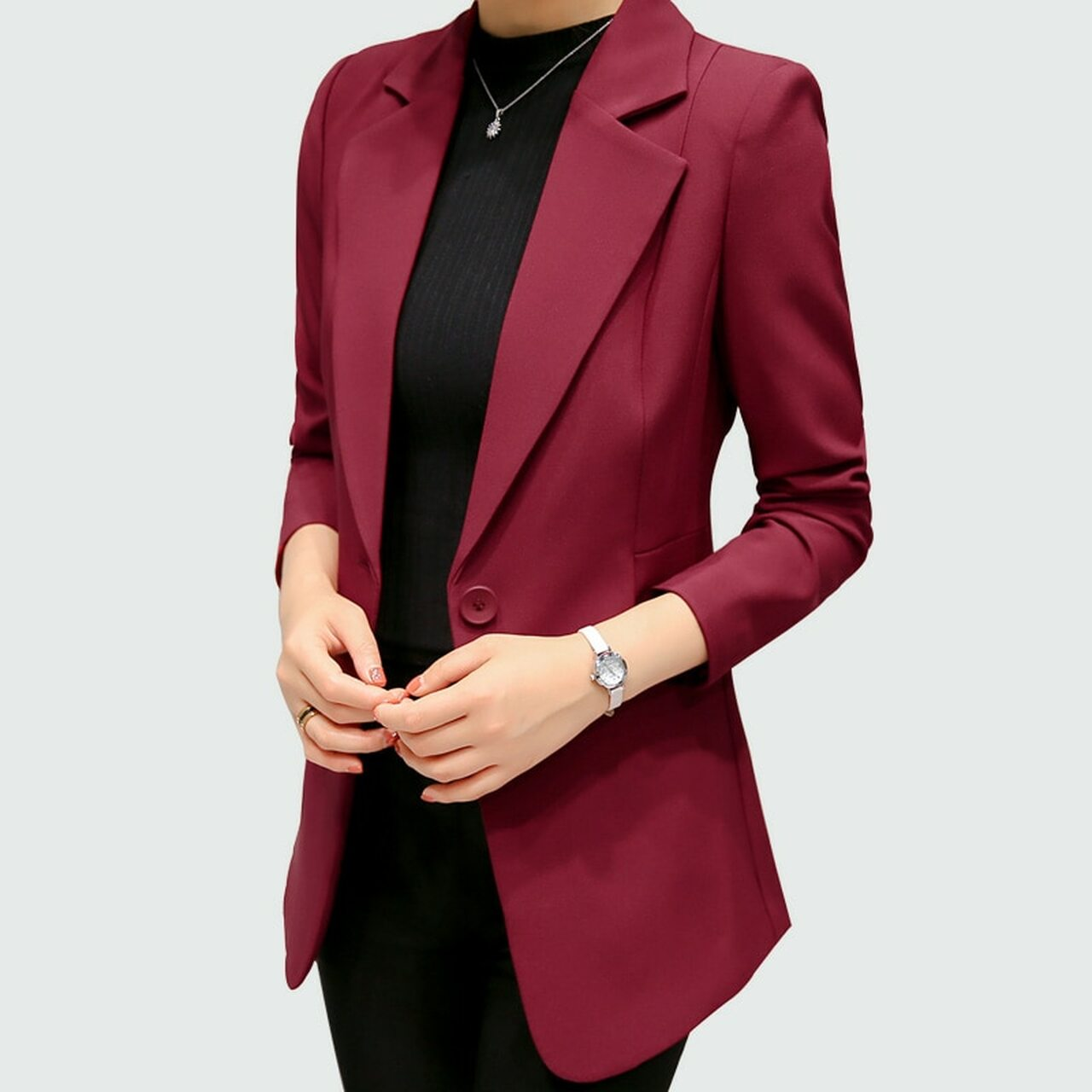 c00624850d2 ... Vangull Women Blazers Jackets 2018 New brand Spring Autumn Fashion  Single Button Elegant Blazer Femenino Ladies ...