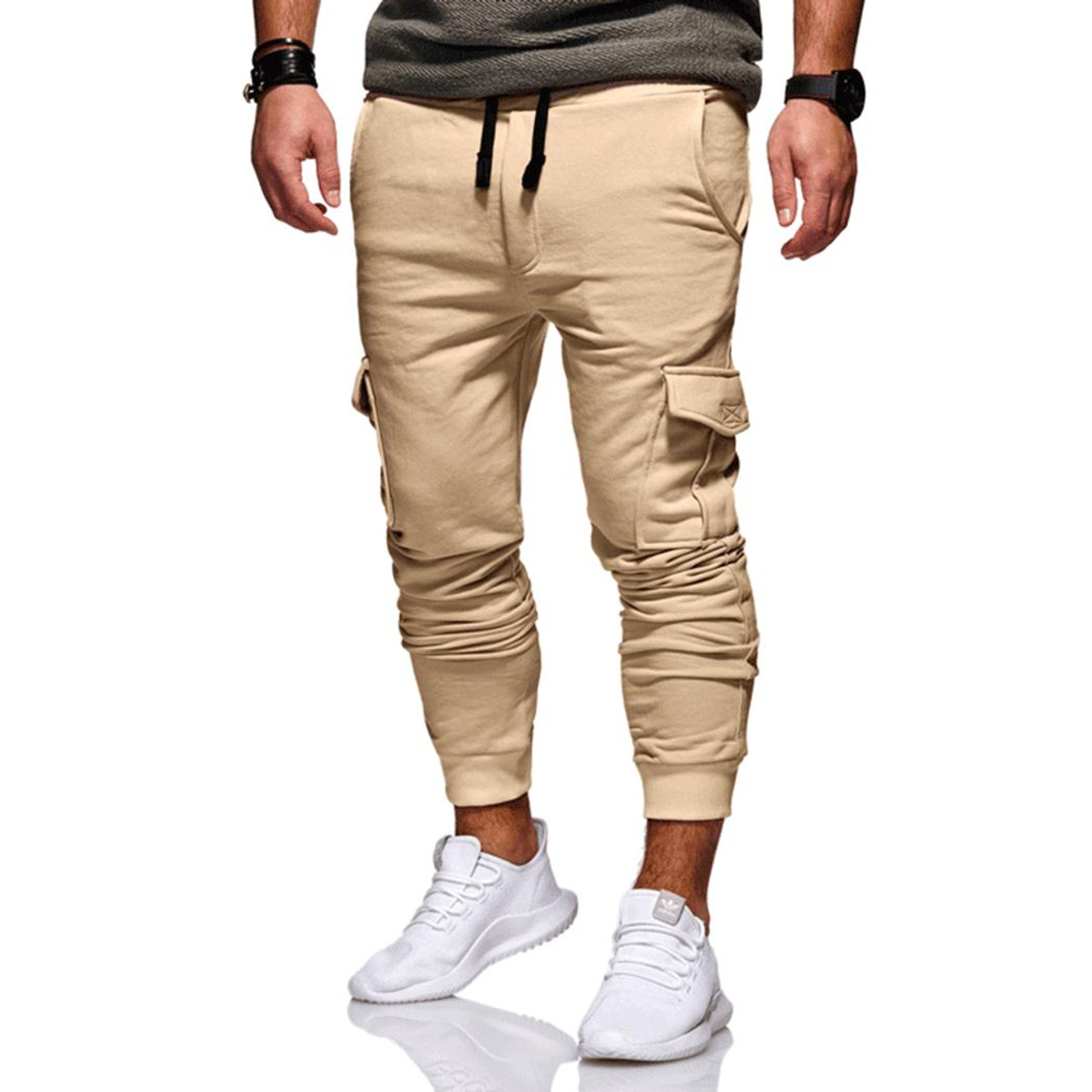 73763de6568 New 2019 Men Cargo Pants Fashion Tactical Joggers Fitness Workout Pockets  Sweatpants Plus Size 4XL Casual ...