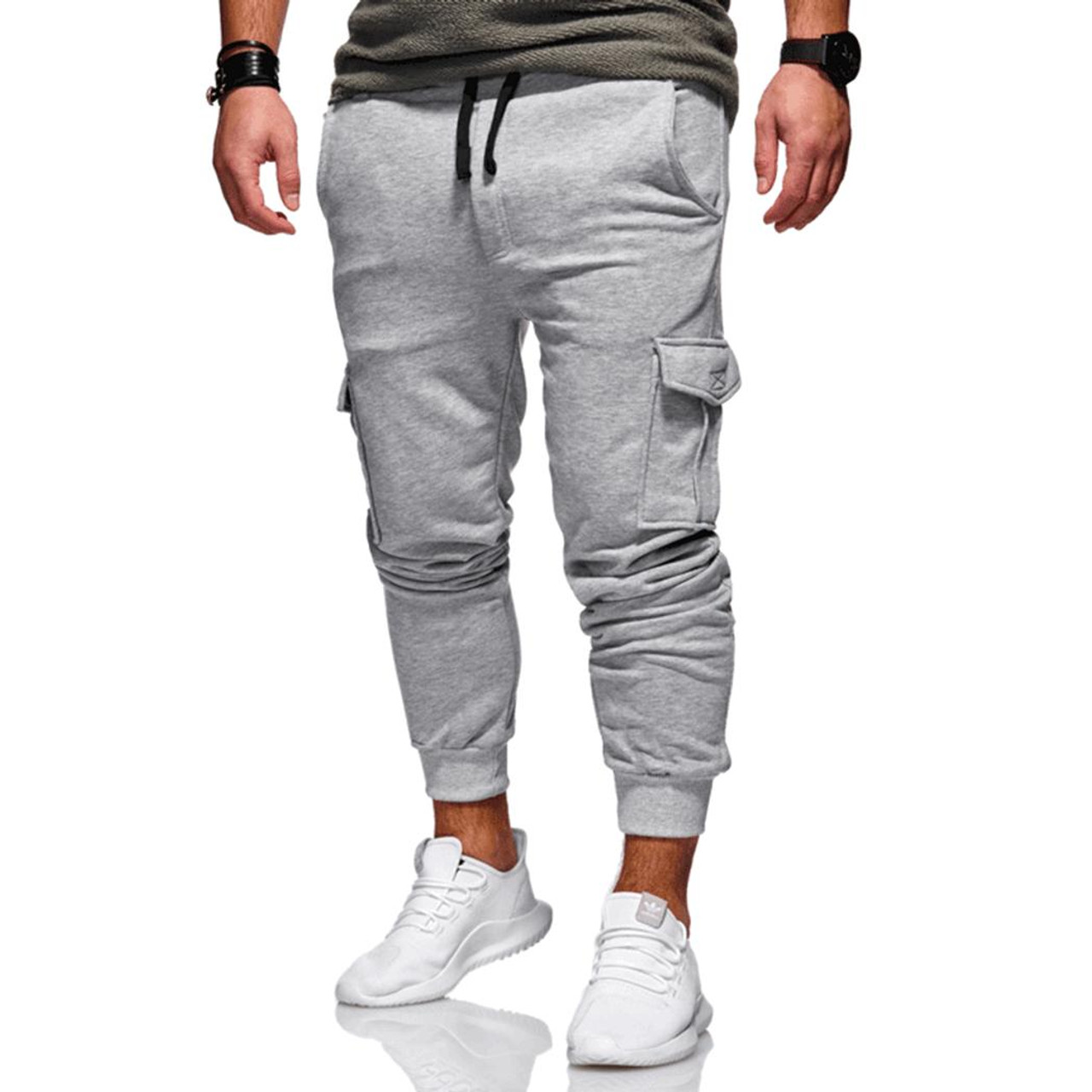 c50c7910e4b ... New 2019 Men Cargo Pants Fashion Tactical Joggers Fitness Workout  Pockets Sweatpants Plus Size 4XL Casual ...