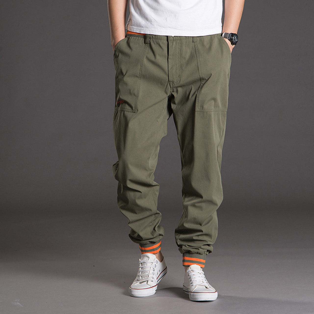 033e9ddd33eed Men Tactical Pants Camo Jogger Casual Cotton Trousers Multi Pocket Military  Style Army Camouflage Men s Cargo ...