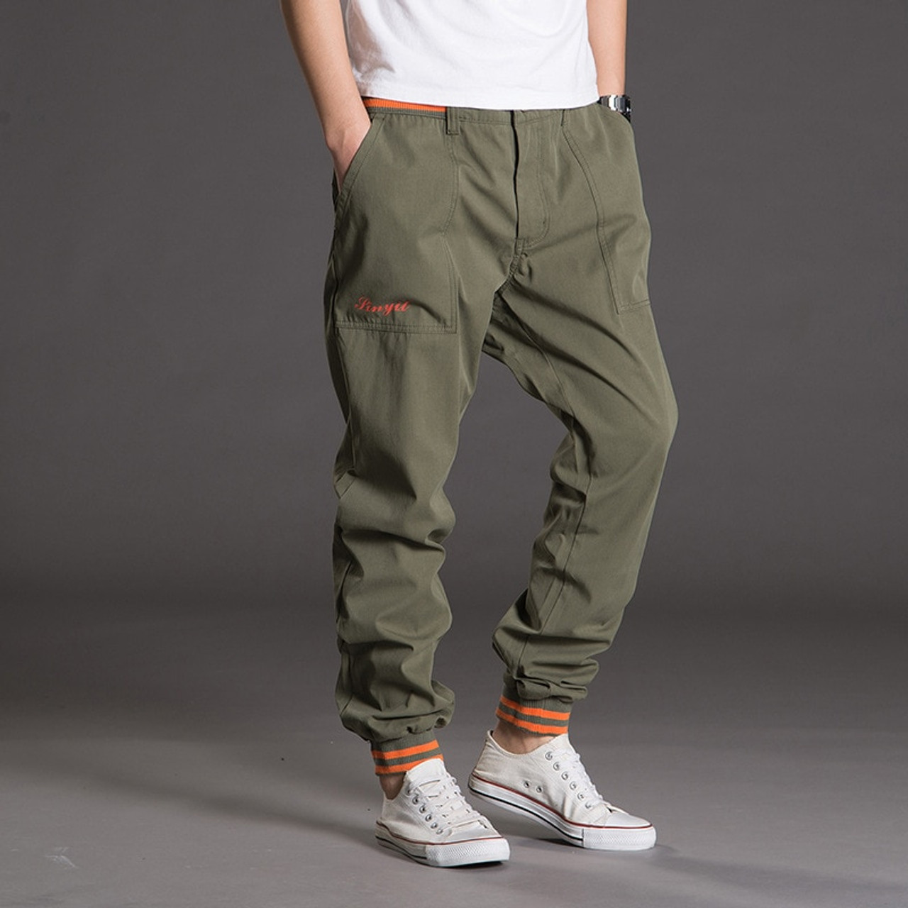 be93ba3772a ... Men Tactical Pants Camo Jogger Casual Cotton Trousers Multi Pocket  Military Style Army Camouflage Men s Cargo ...