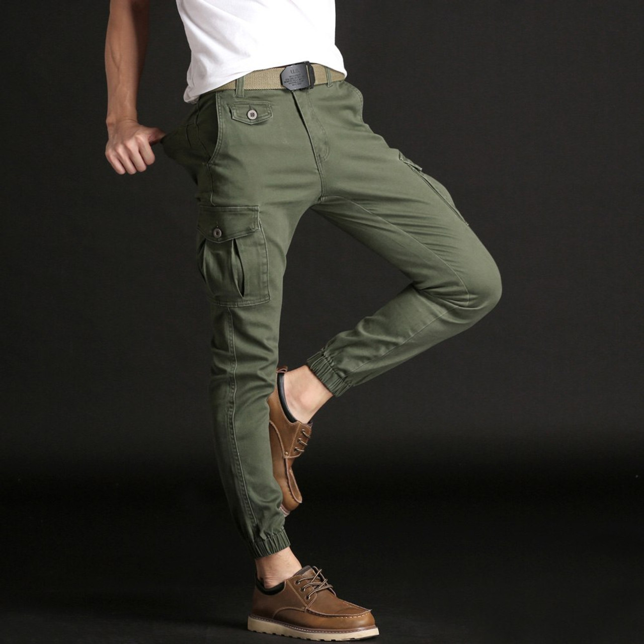 e7d4f9c5f4 ... NIGRITY Tactical new fashion Pants Male Jogger Casual Plus Size Cotton  Trousers Multi Pocket Military Style ...