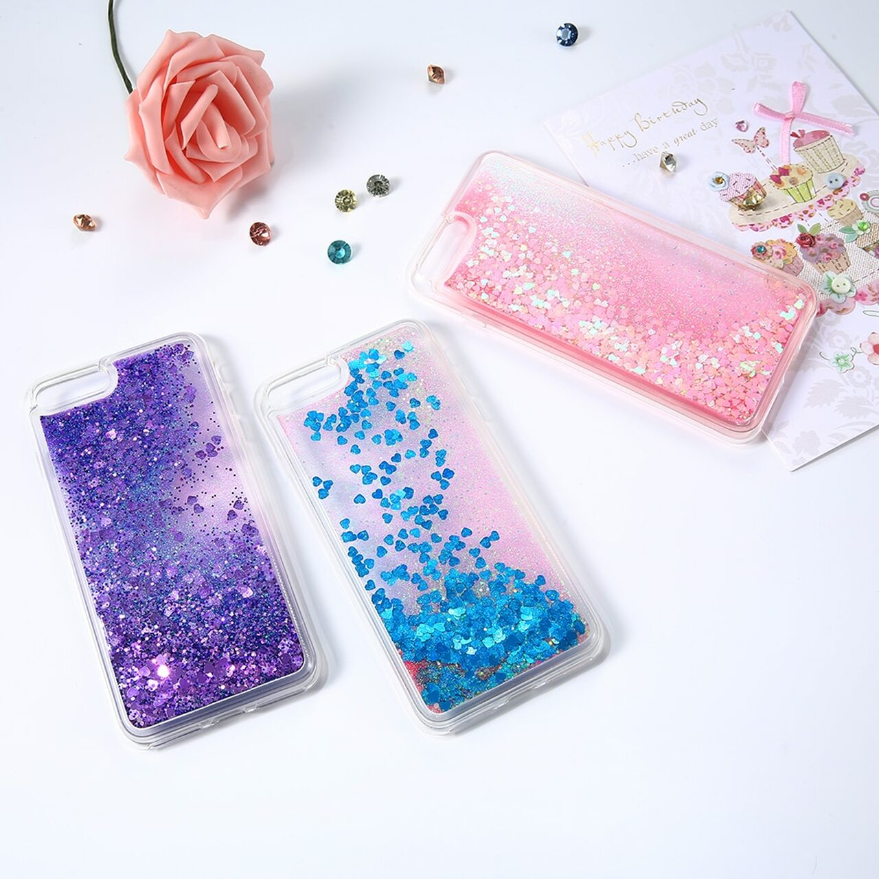... Bling Liquid Quicksand Phone Case For iPhone XS Max XR X 8 7 Plus Shiny  Sequin ... 692e7b5e0271