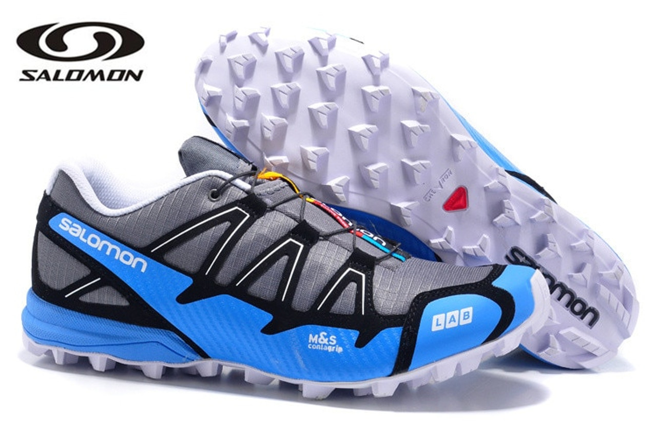 Free Shipping high quality Salomon Speed Cross 4 CS III Men Sneakers Red Man Breathable Flats Running Shoes
