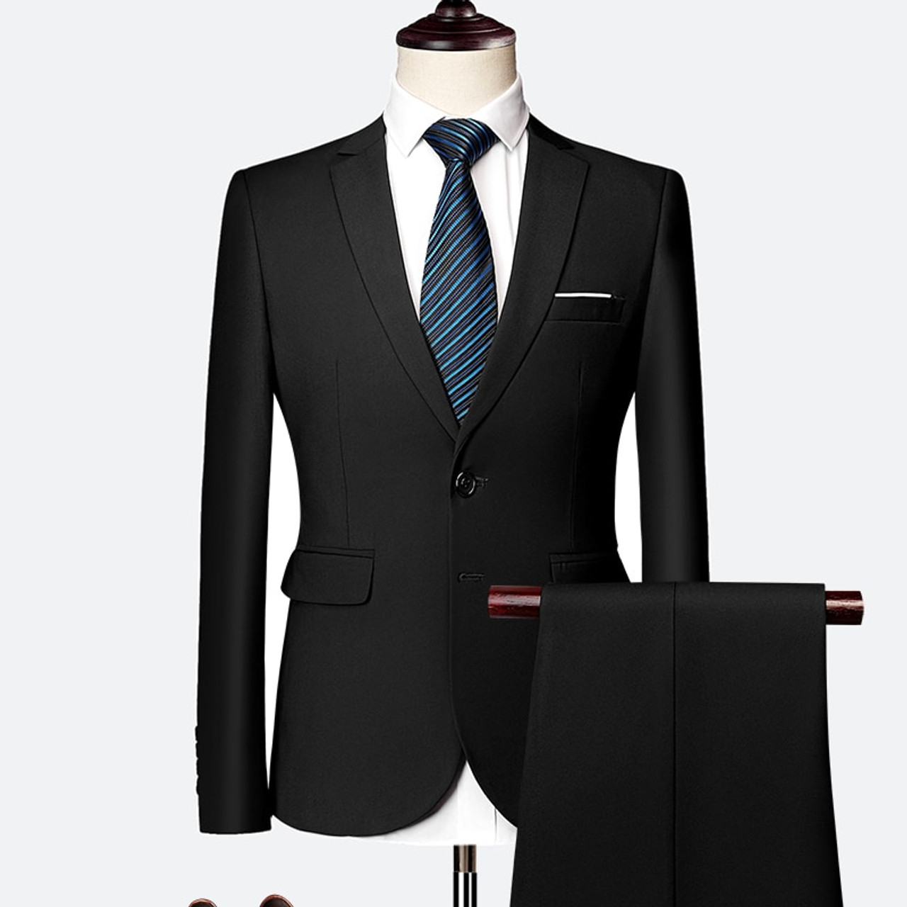Suits For Wedding.Plyesxale Two Piece Suit For Men Sky Blue Gray White Men Suits For Wedding Tuxedo Slim Fit Mens Suits With Pants Burgundy Q64