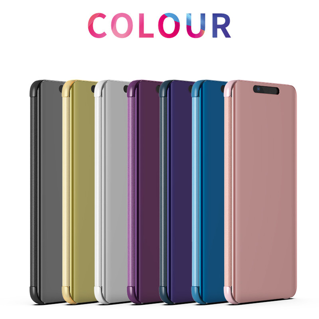 best service aa39d ac4e7 Smart View Mirror Case for Huawei Mate 20 Pro Cover Clear Leather Flip Case  for Huawei Honor 8x Max Mate 20 Lite Phone Cover