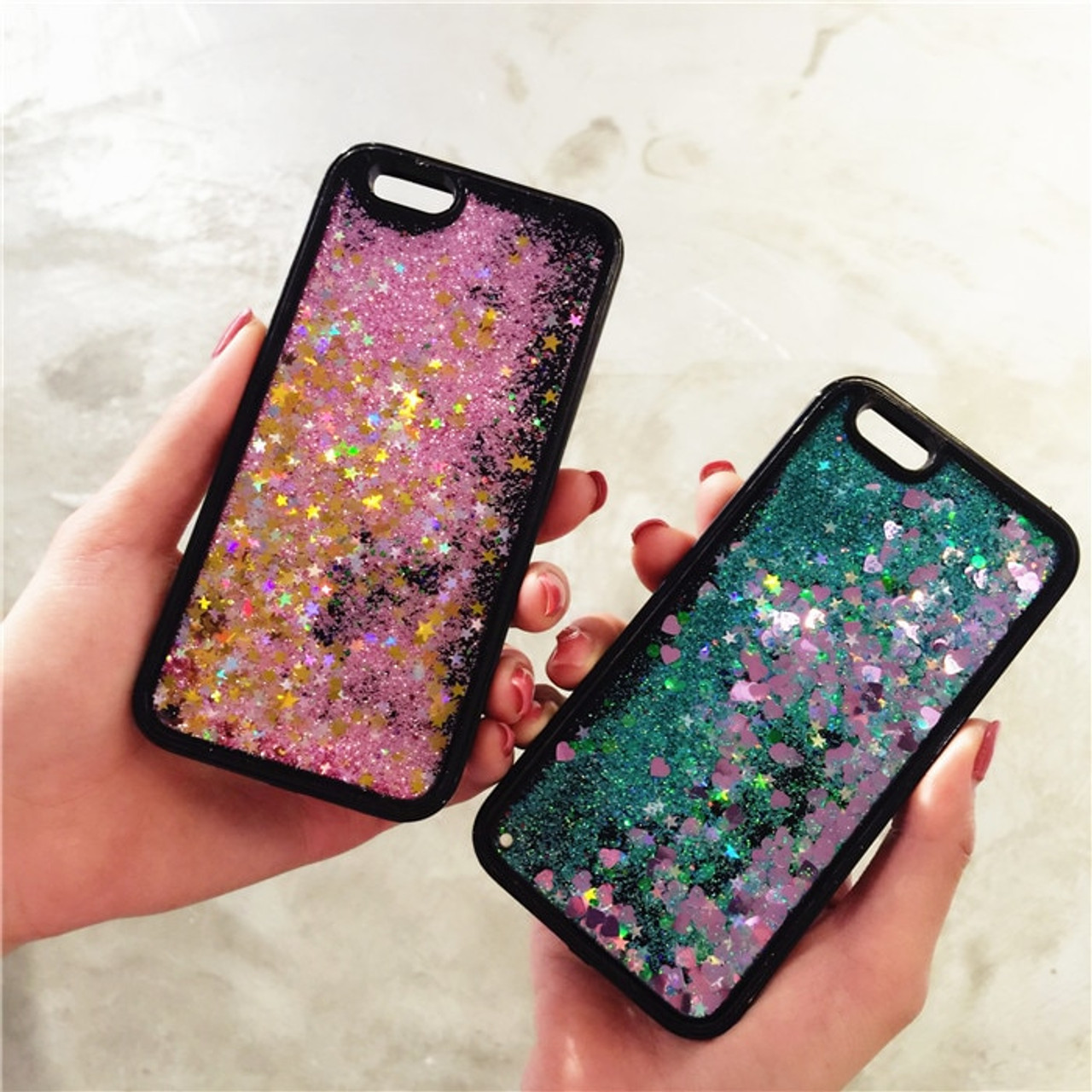 Bling Liquid Quicksand Phone Case For iPhone X XS 7 8 Plus Black Shiny  Sequin PC Glitter Case Cover For iPhone 5 5S SE 6 6S Plus - OnshopDeals.Com 12dcd2a820ce
