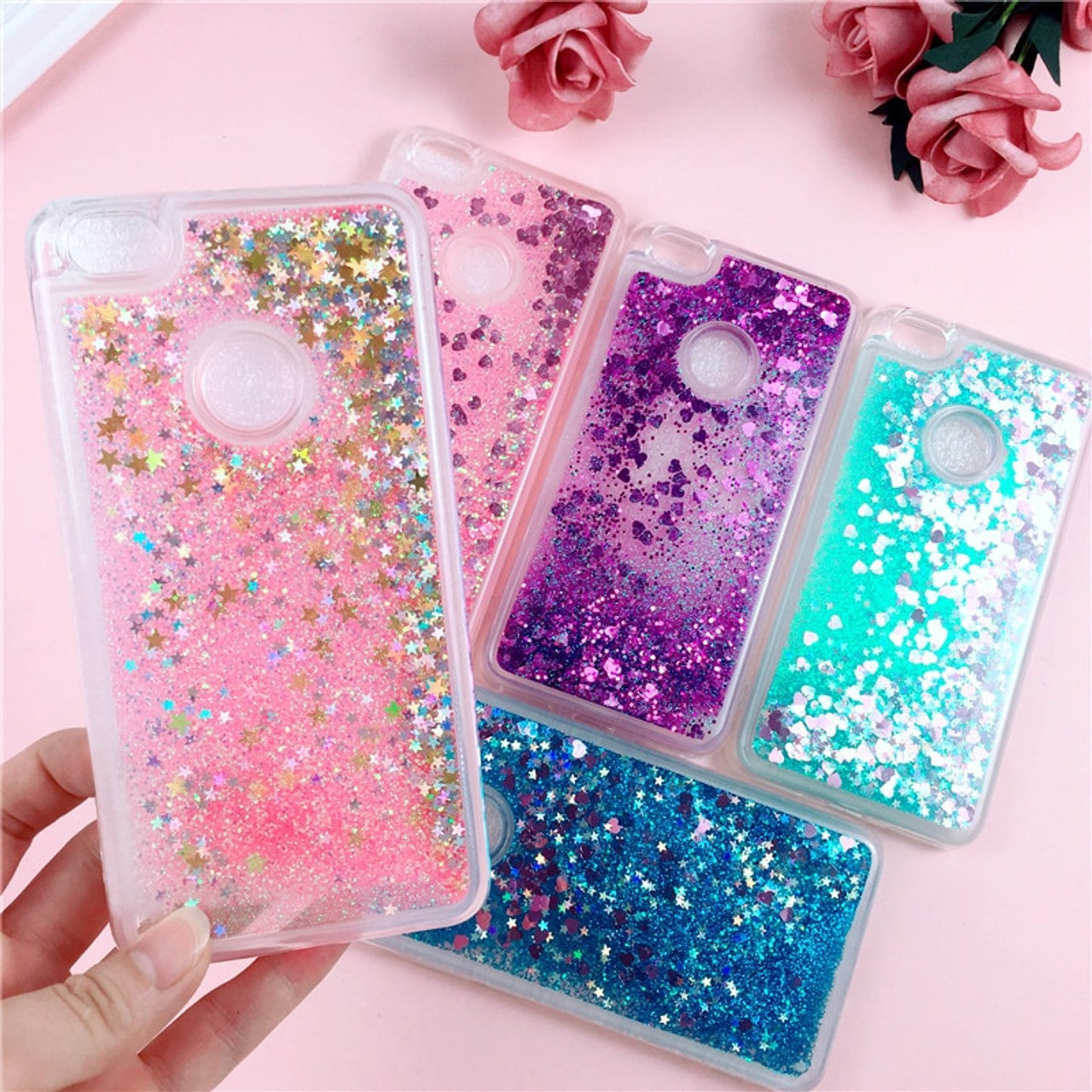 newest 020a3 139f5 Glitter Liquid Case on for Fundas Xiaomi Redmi Note 5A Prime Cover Redmi 5  Plus Note5 Pro Case Soft Silicone Dynamic Phone Cases