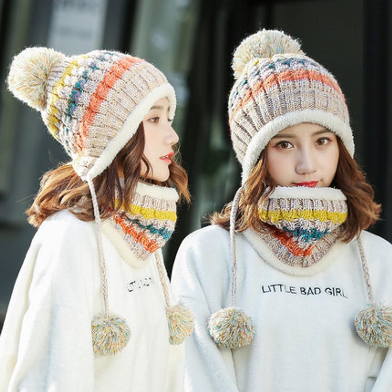 Women Men Unisex Warm Winter Hat Fashion Outdoor Accessories Knitted Casual