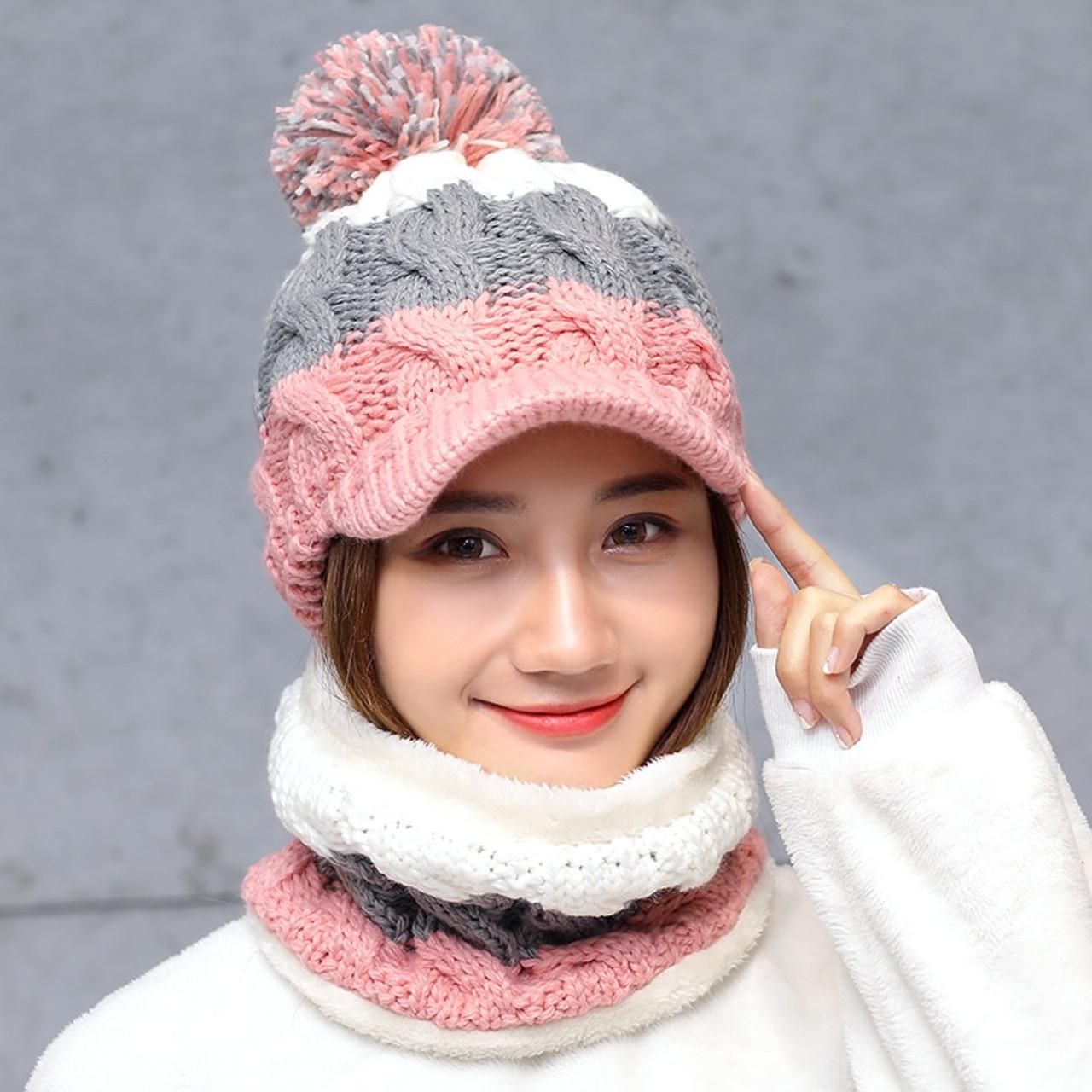 Balaclava Women's Knitted Hat Scarf Caps Neck Warmer Winter Hats For Men Women  Skullies Beanies Warm Fleece Cap 6 Colors - OnshopDeals.Com