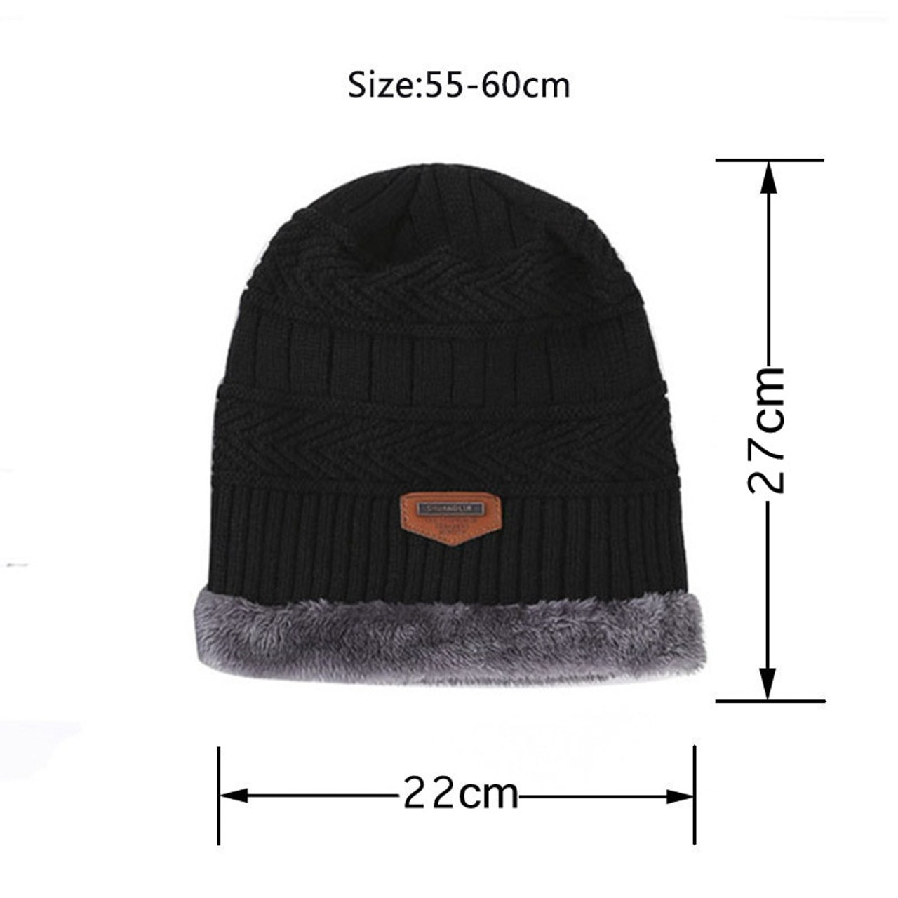 df80b26122e7f ... Boys And Gilrs Unisex Winter Hat Knit Scarf Cap Winter Hats for Men  Caps Warm Fur ...