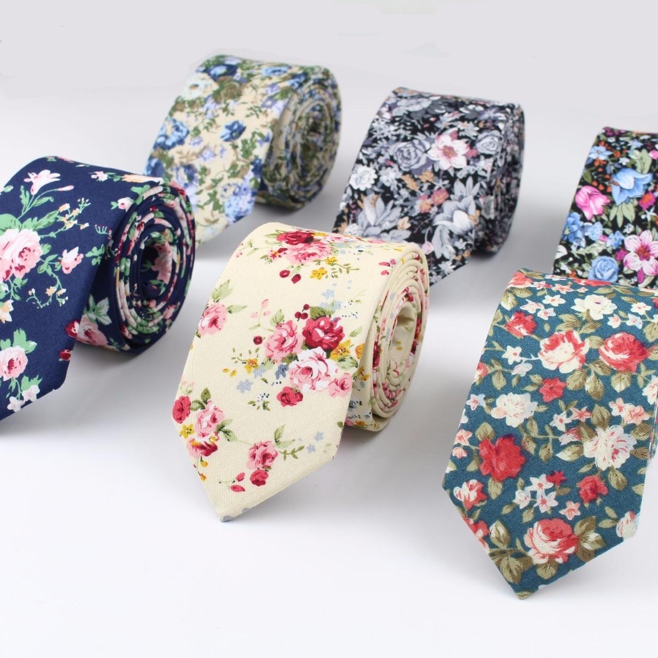 Mens Anchor Pattern Tie Skinny Narrow Necktie Various Designs