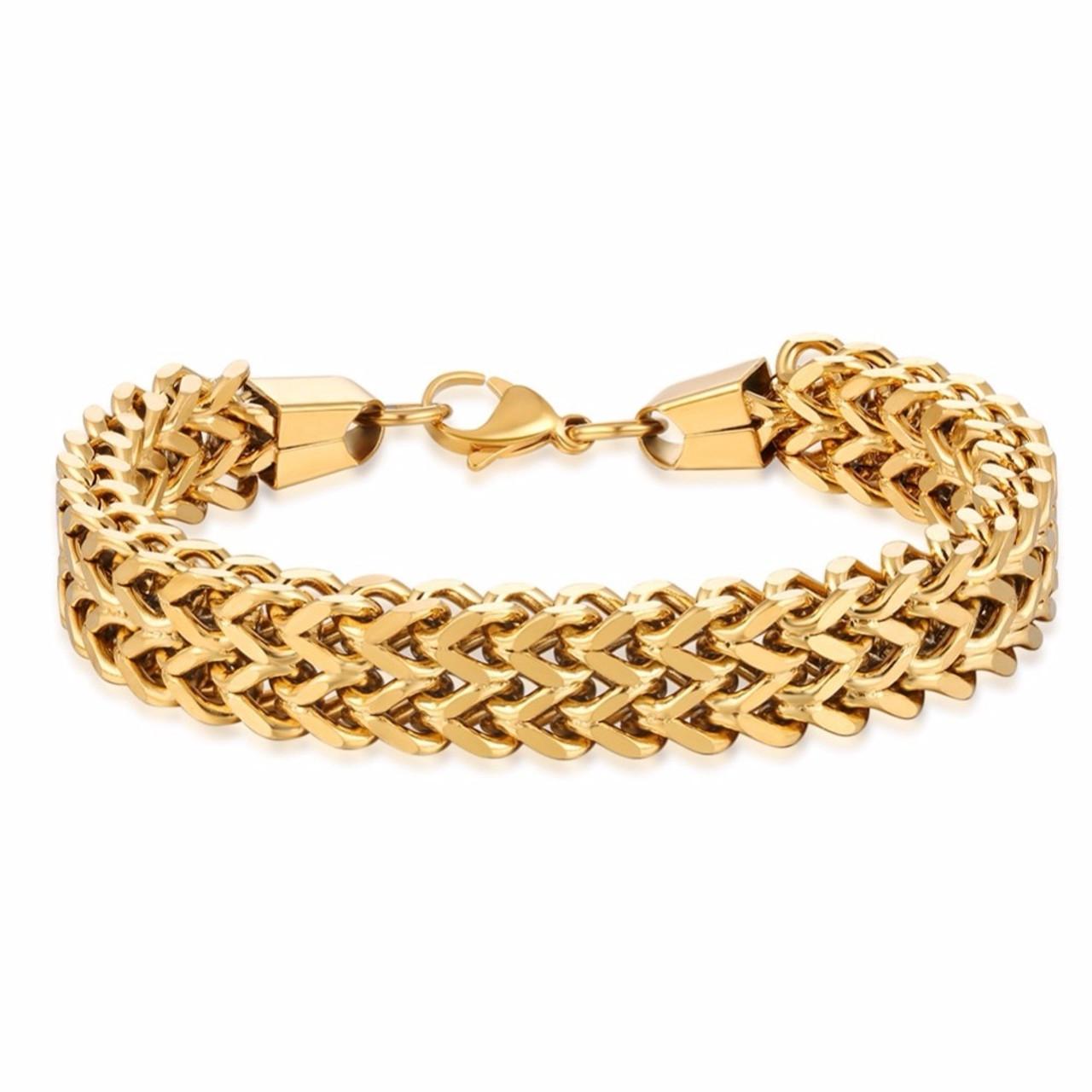 30b6438d0449a 316L Stainless Steel Bracelet Men Luxury Mens Charms Bracelets Vintage  Fashion Jewelry Chain Cuban Link Bracelet Male pulseira