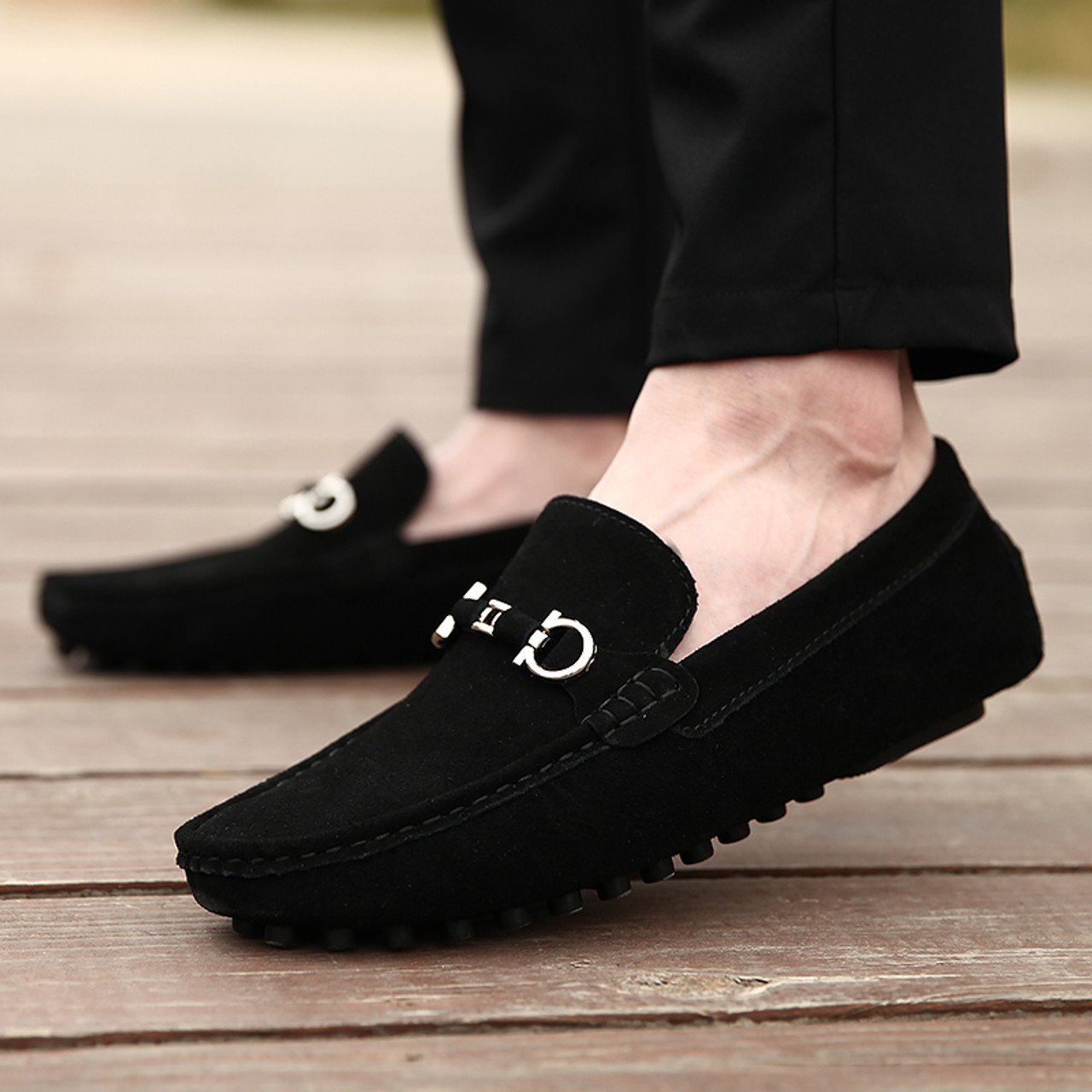 0903a7f06ed 2018 New Young Casual Loafers Shoe Brand Men Shoes Handmade Loafers Slip On  Anti-Slip ...