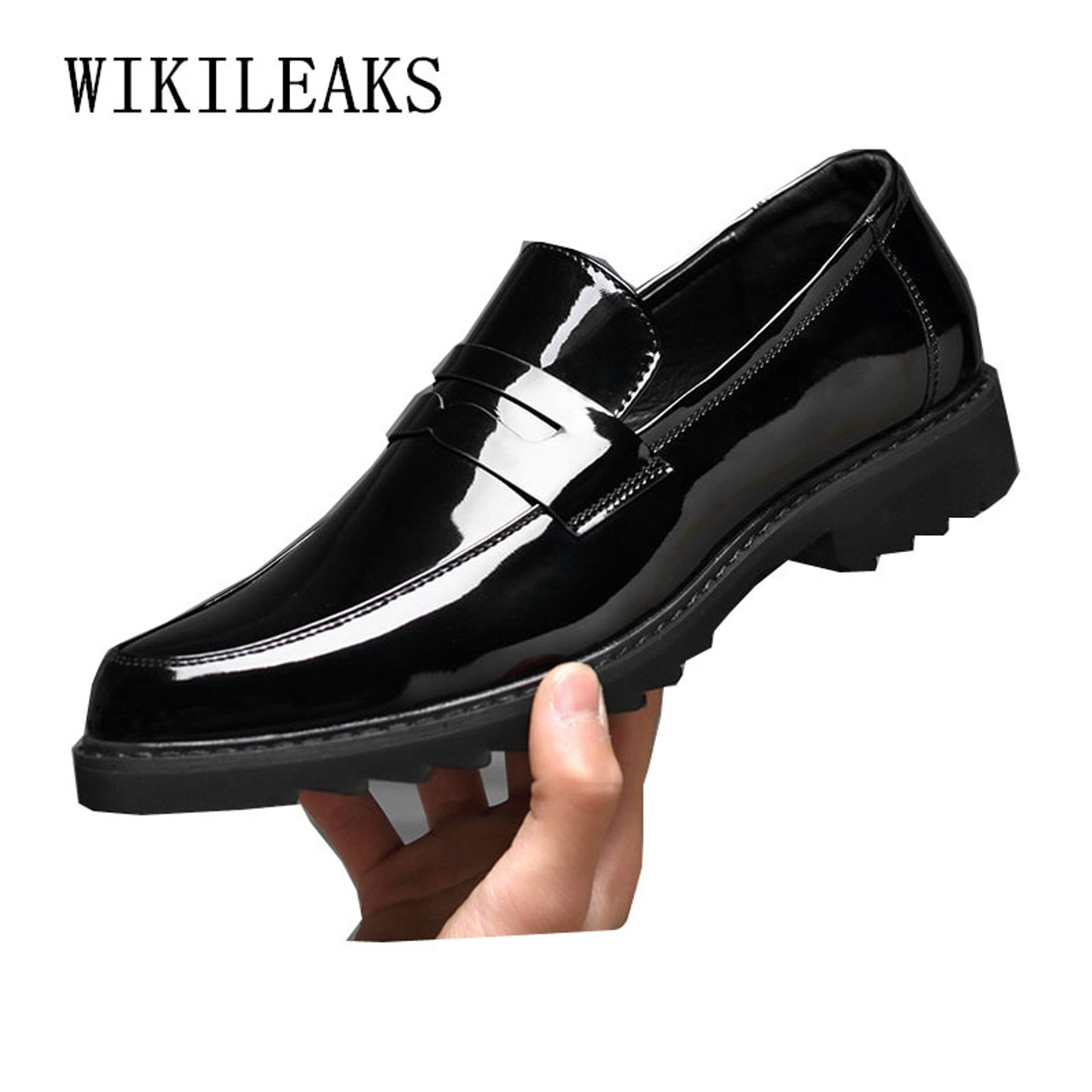 MENS PATENT LEATHER SMART WEDDING FORMAL OFFICE DRESS WORK SHOES BUSINESS SHOE