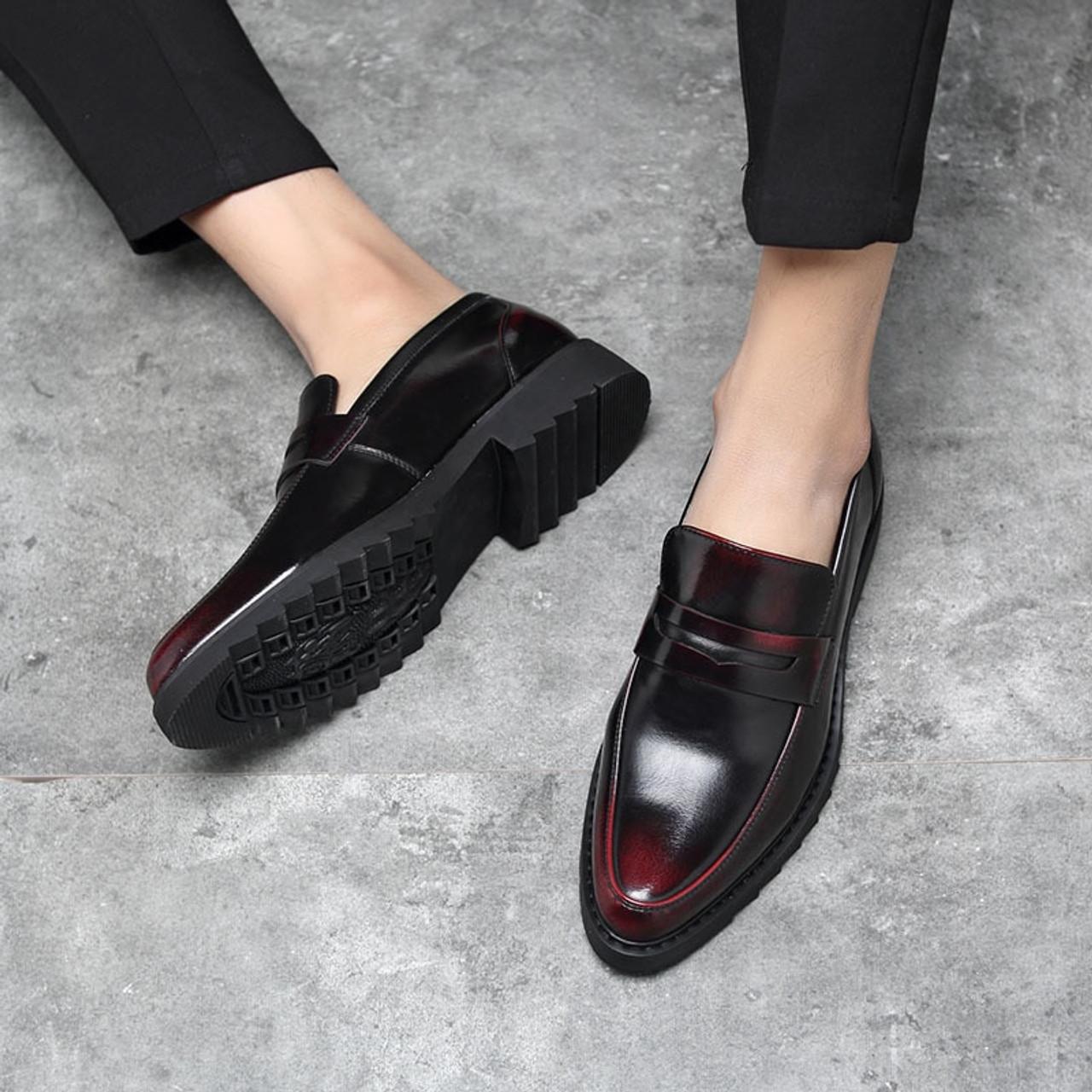 91ebf17dcef ... office patent leather shoes men brand business platform shoes oxford  shoes for men formal wedding dress ...